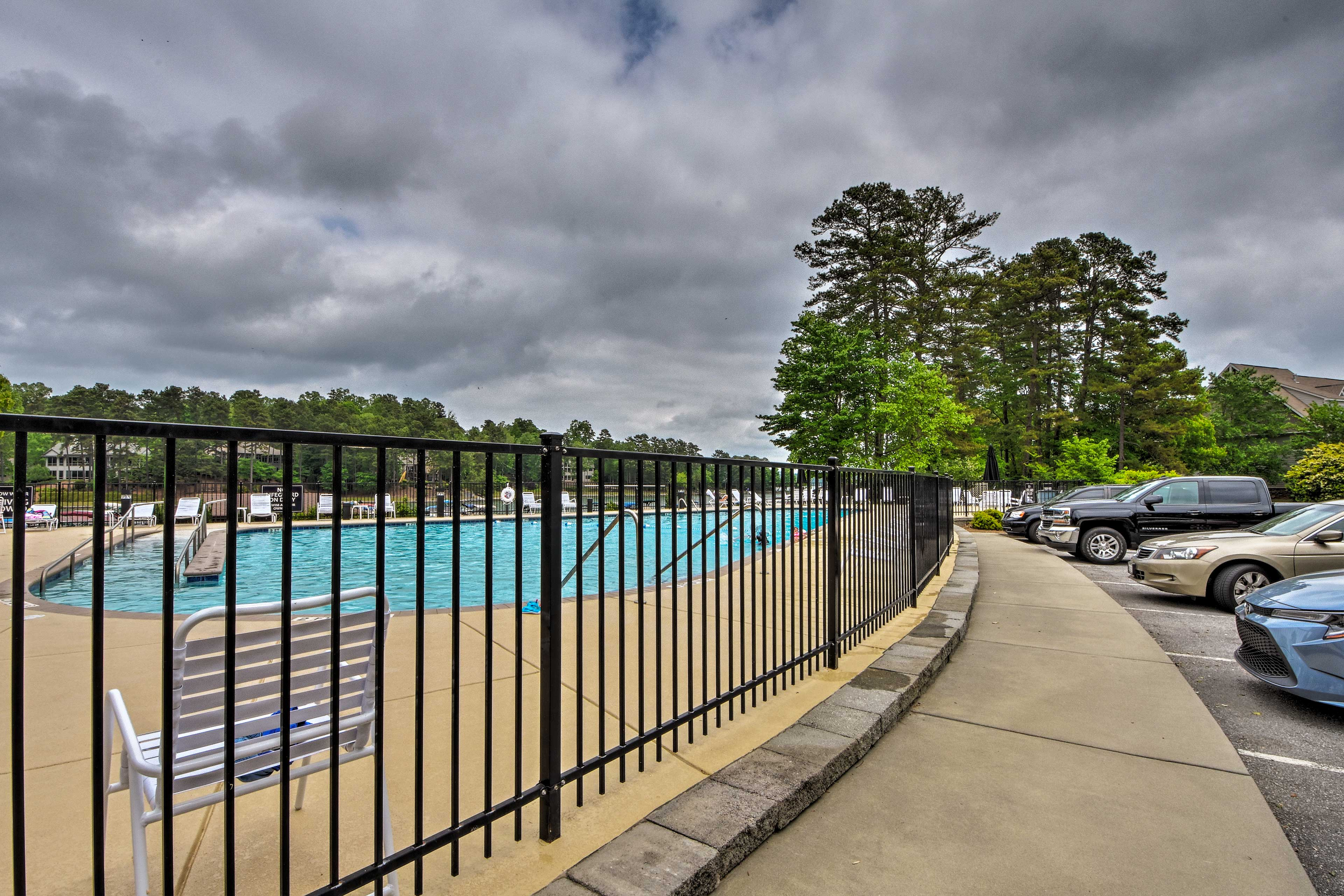 Make a splash or meet other travelers at the community pool.