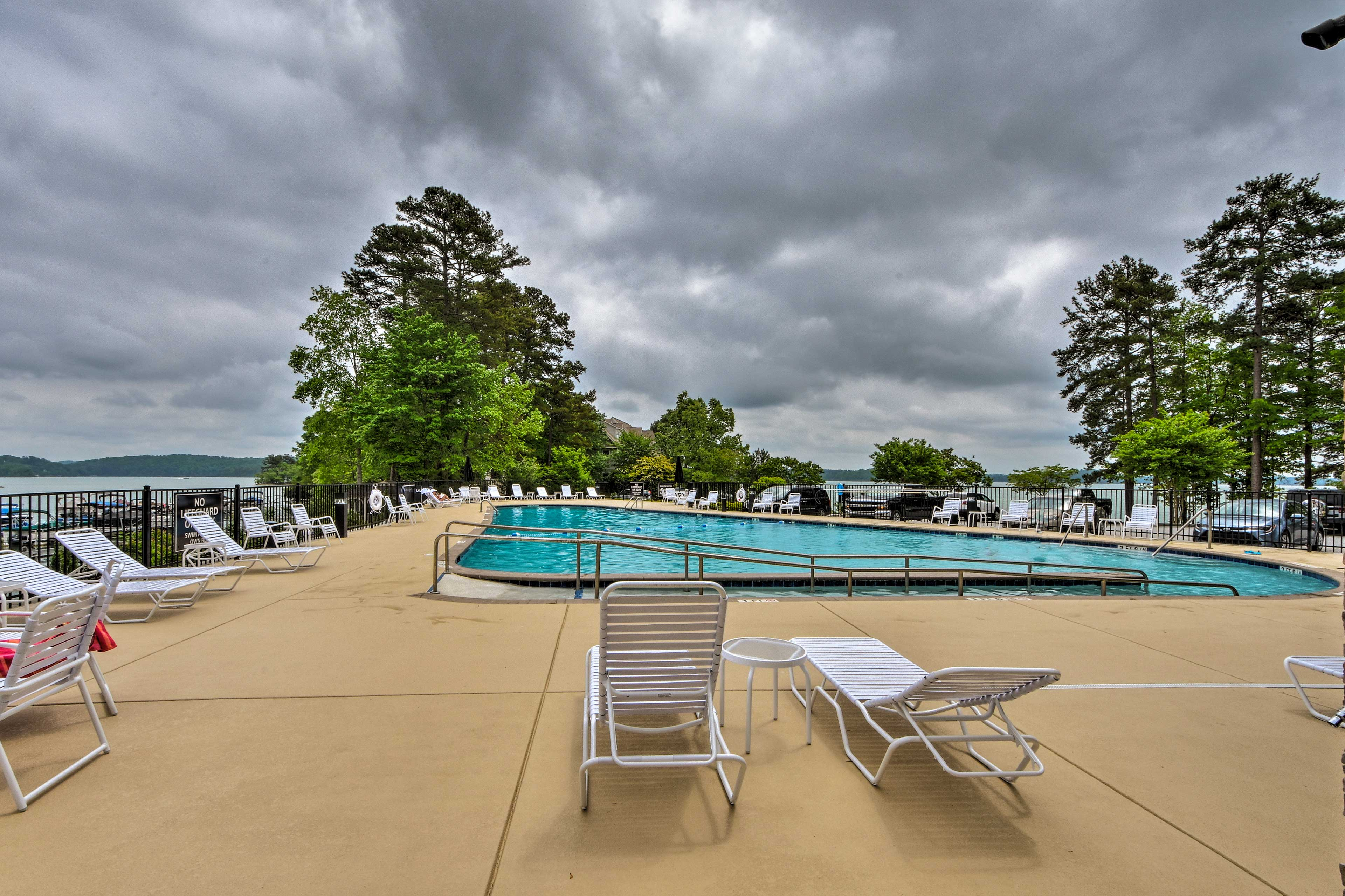 Dive into the community pool at the Tall Ship Condos complex!