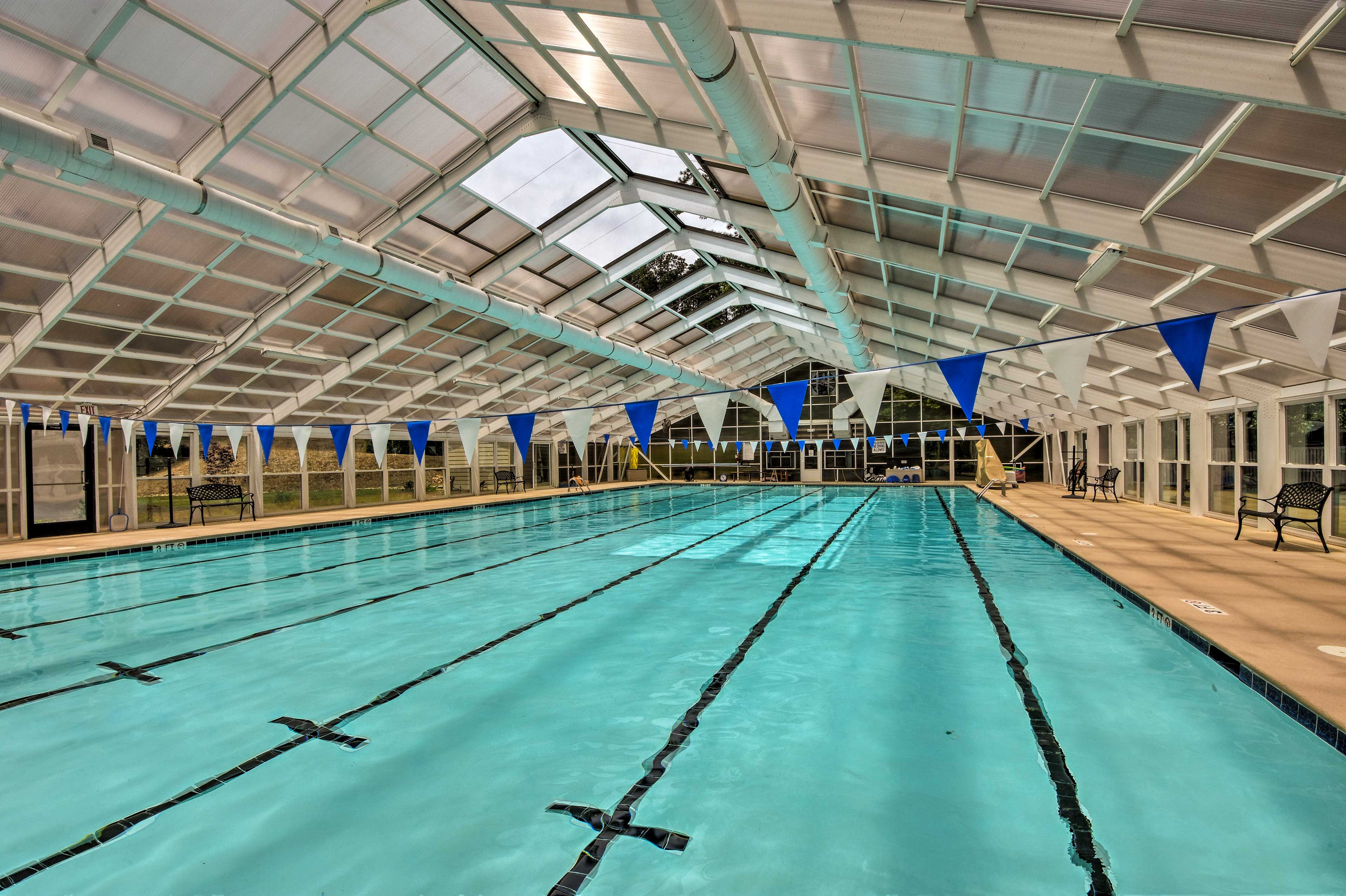 Compete with friends and family in the full-sized indoor pool.