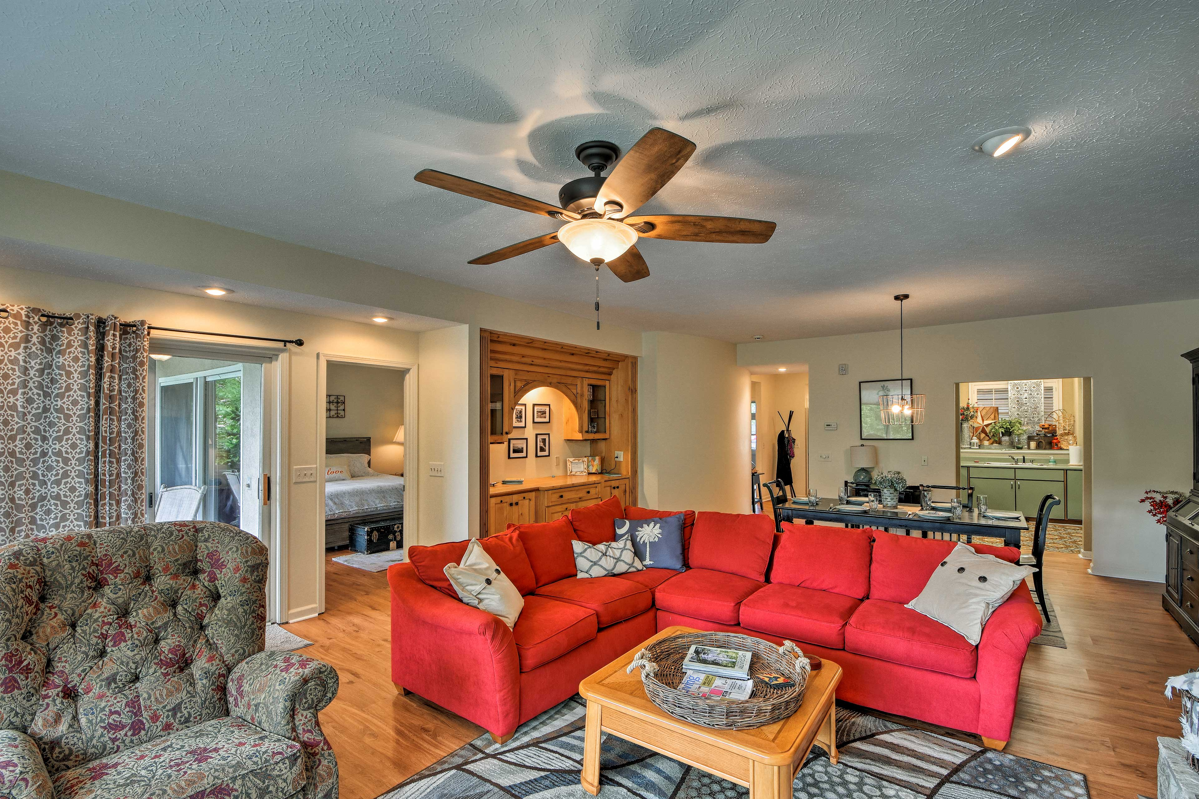 When you're not enjoying the resort amenities, relax in this cozy living room.