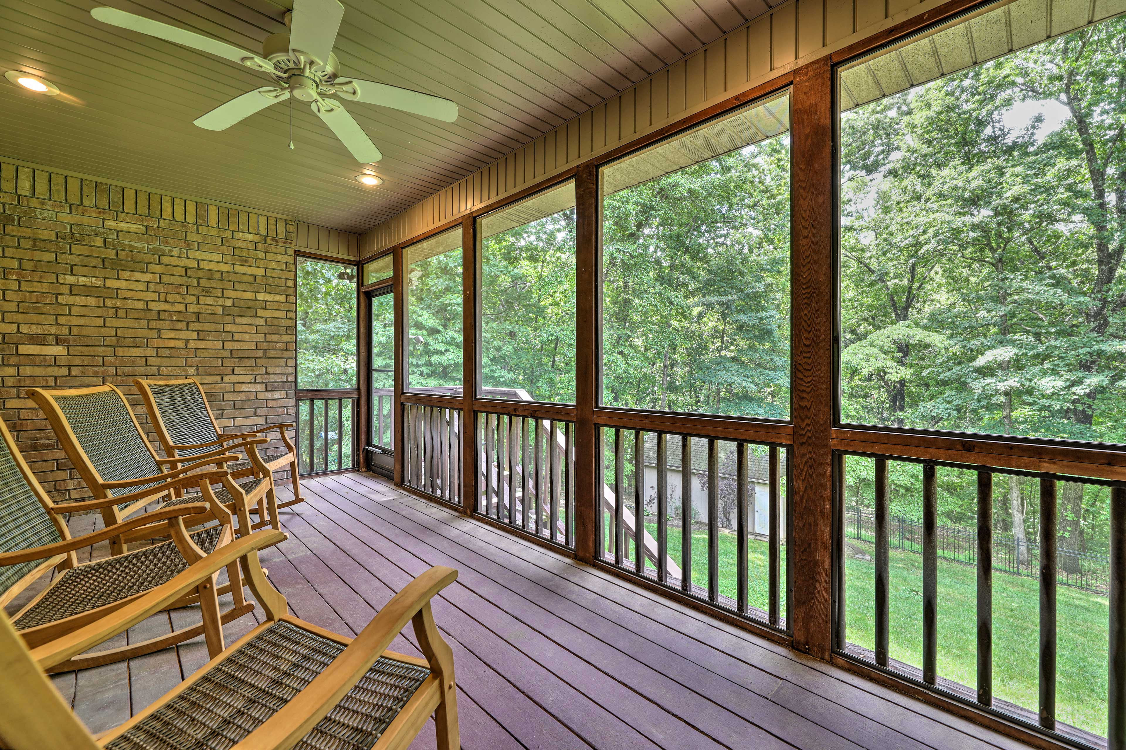 Covered Deck   Rocking Chairs