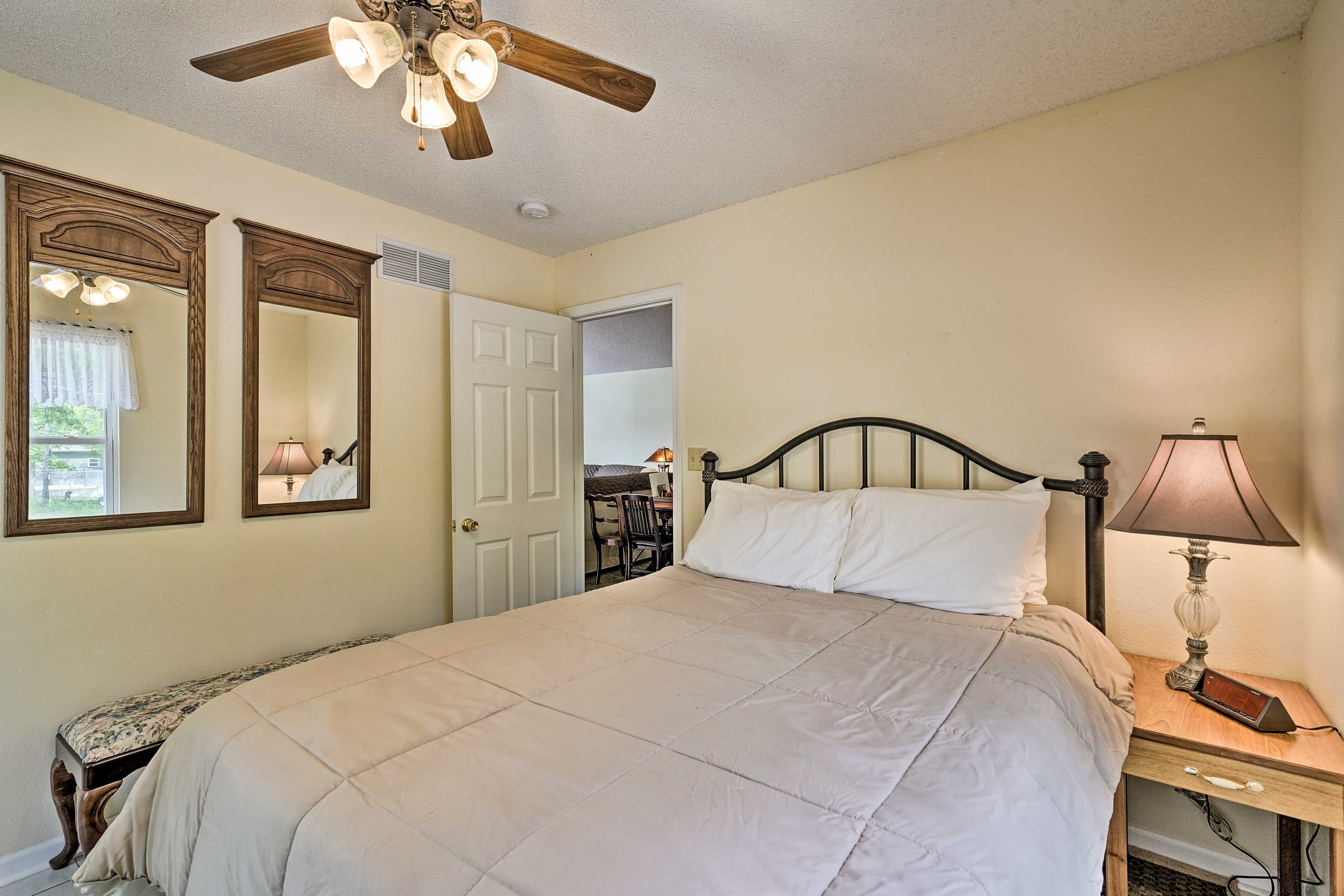 The 3rd bedroom also features a cozy queen bed.