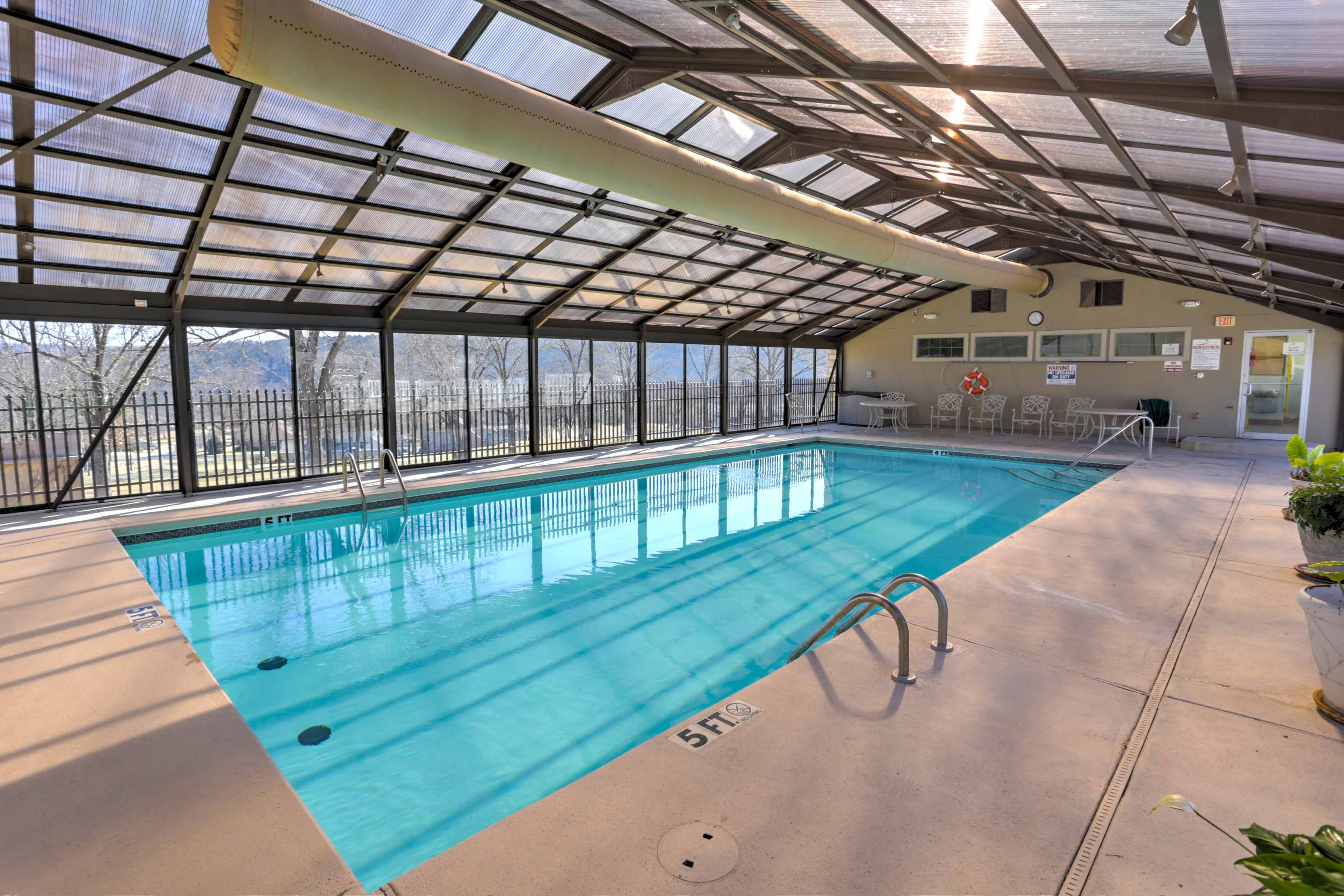 Swim even in the dead of winter at this resort-style indoor pool.