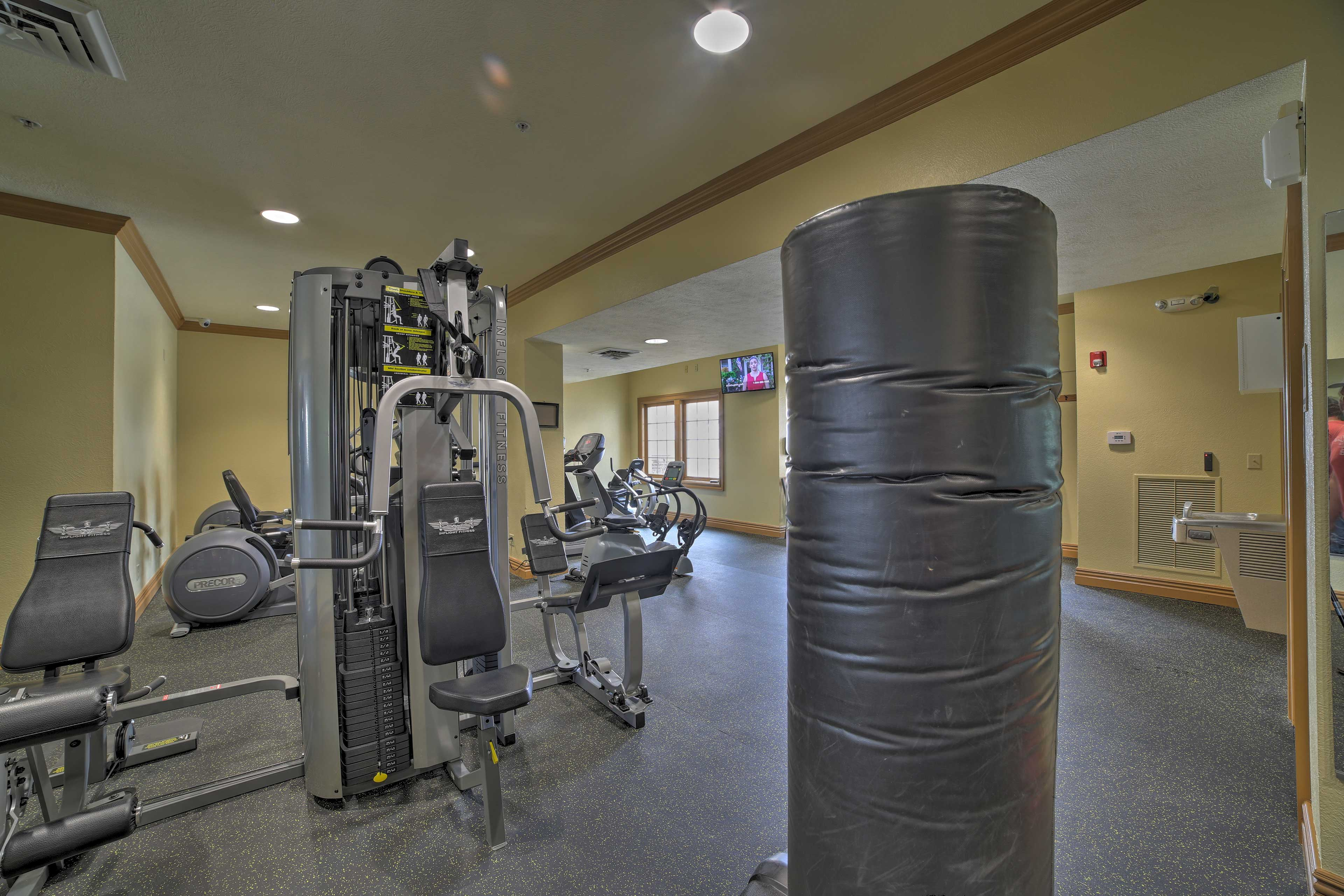 You don't have to skip your work out while on vacation here!