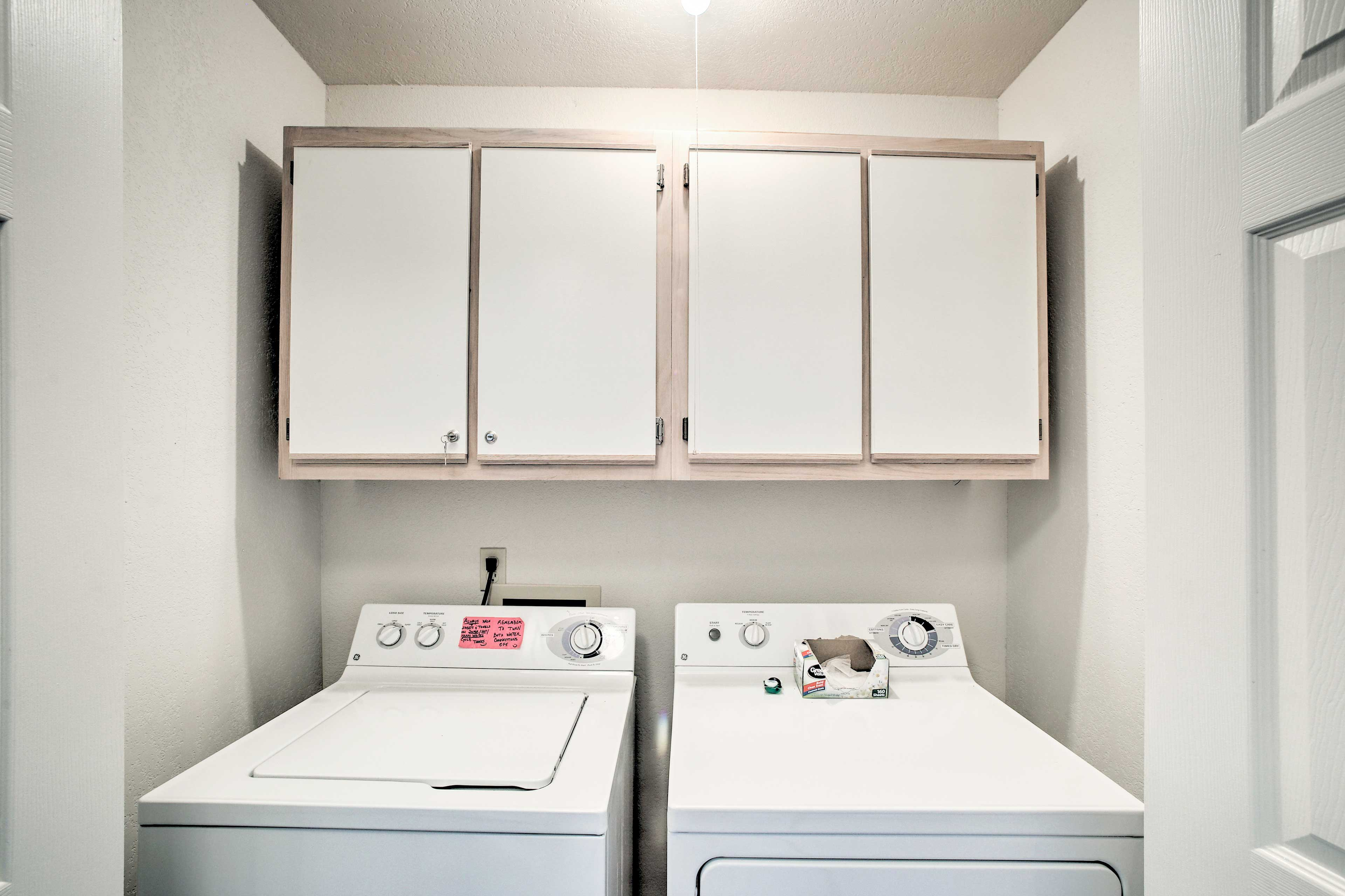 Pack light with the convience of the in-unit washer and dryer.