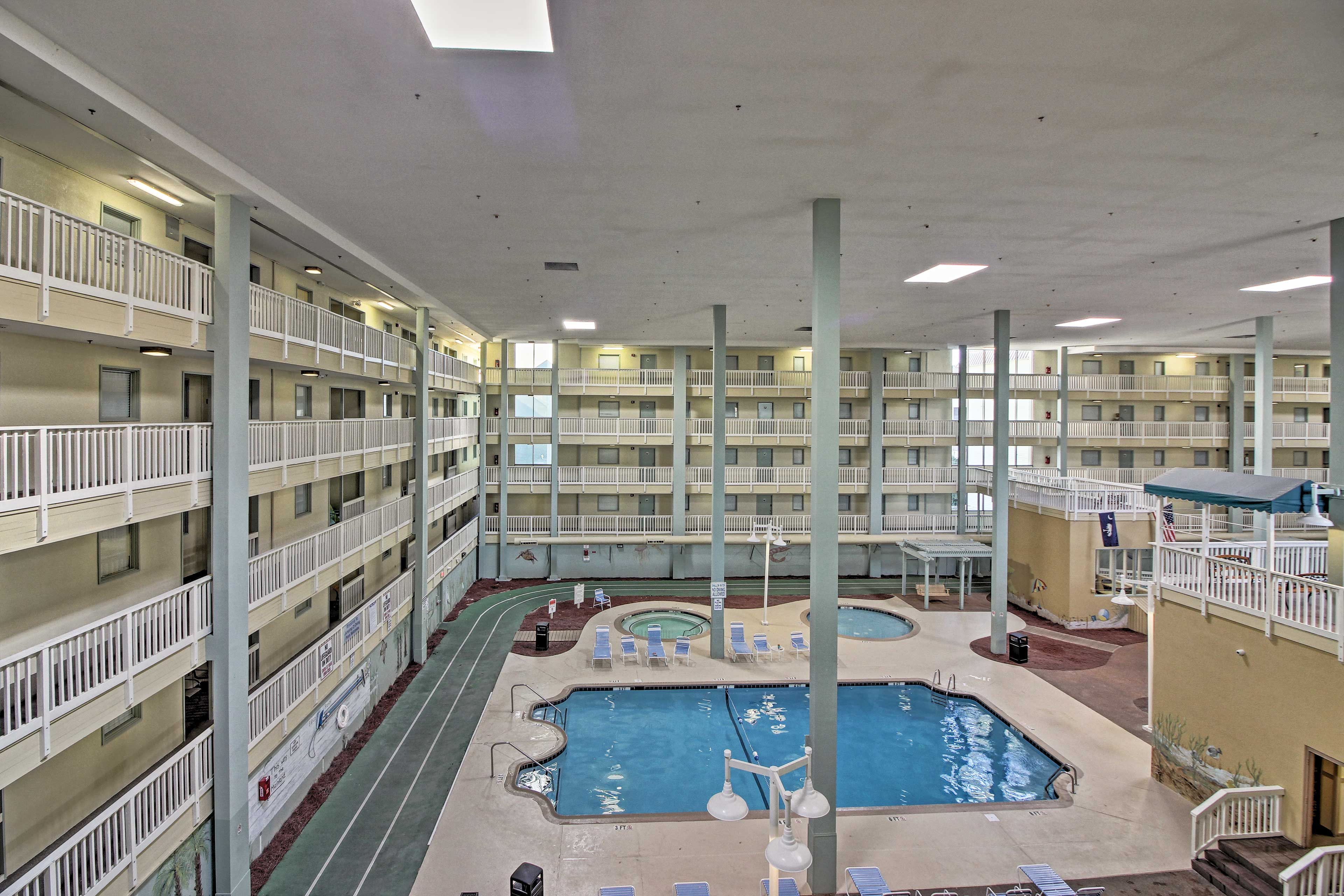 The condo provides access to numerous indoor and outdoor pools.