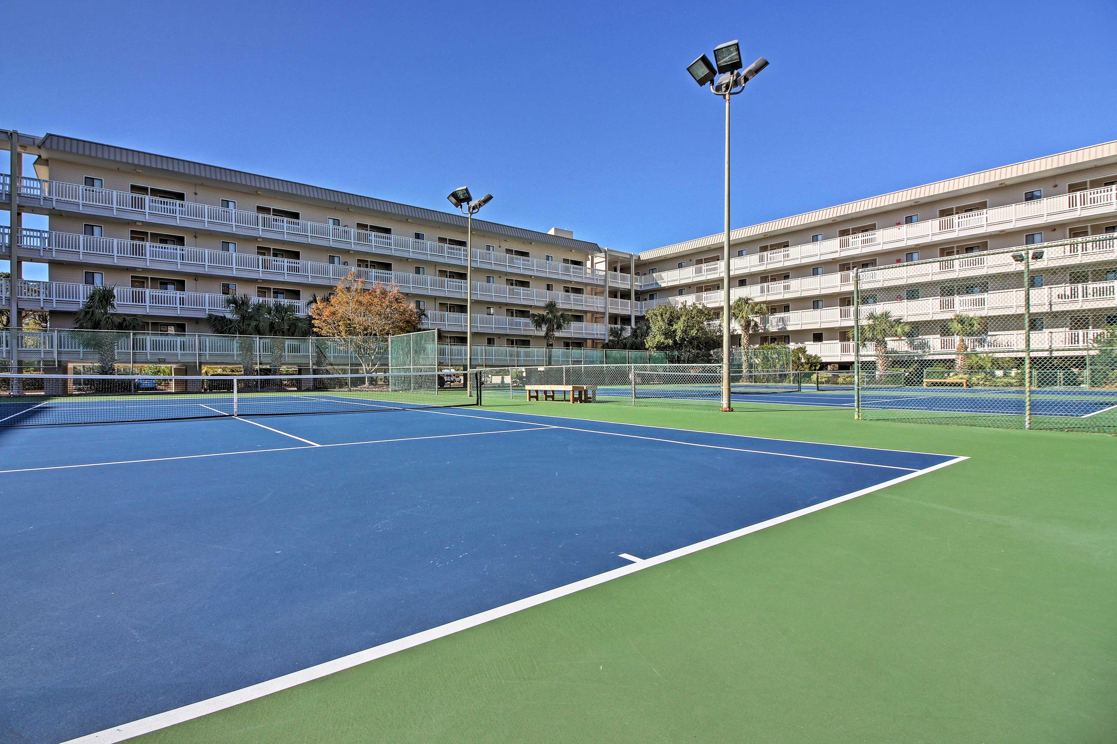 Play a few tennis matches!