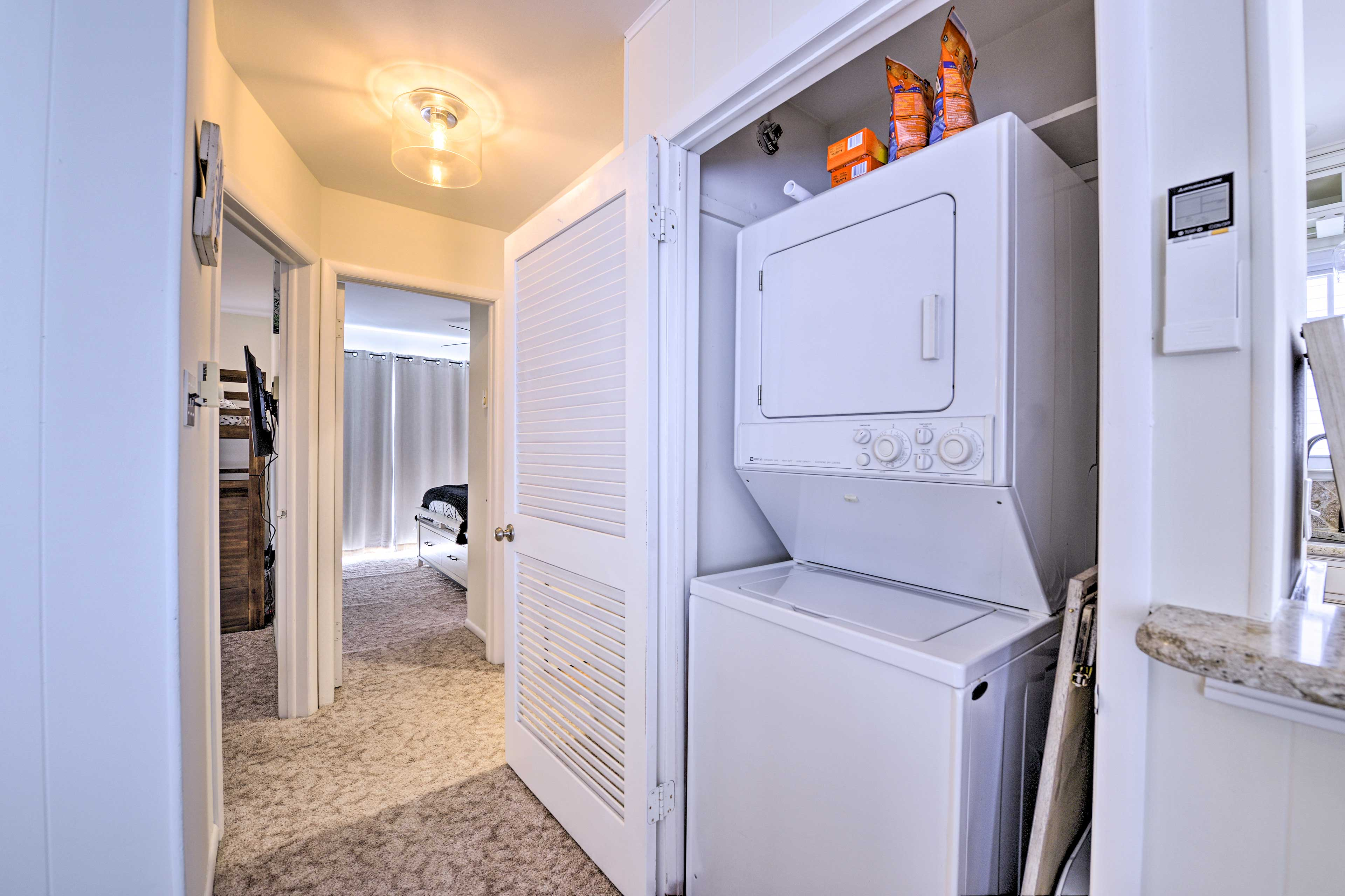 Keep all your beach clothes clean with the laundry machines!