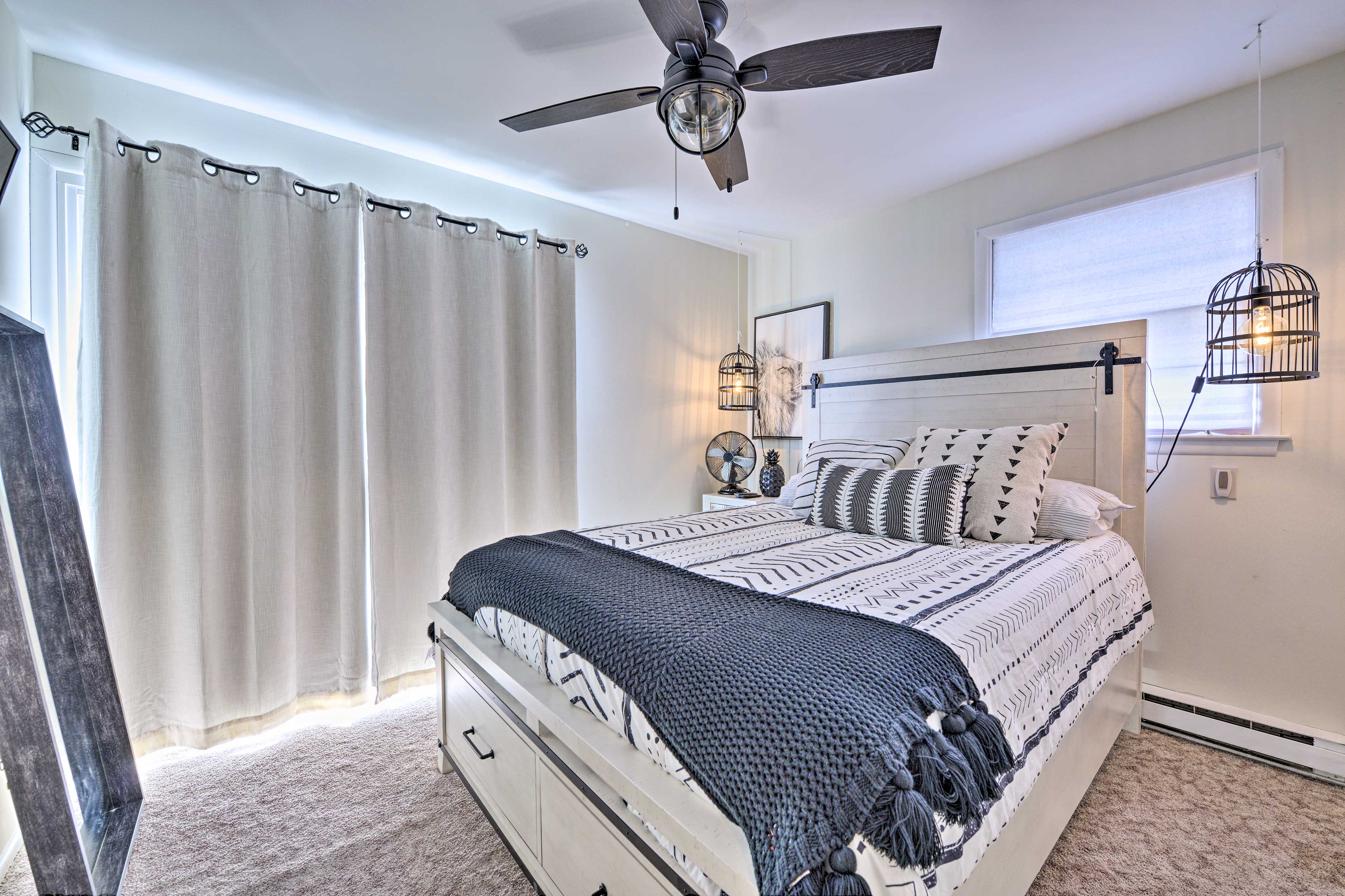 The master bedroom is a sleek retreat!