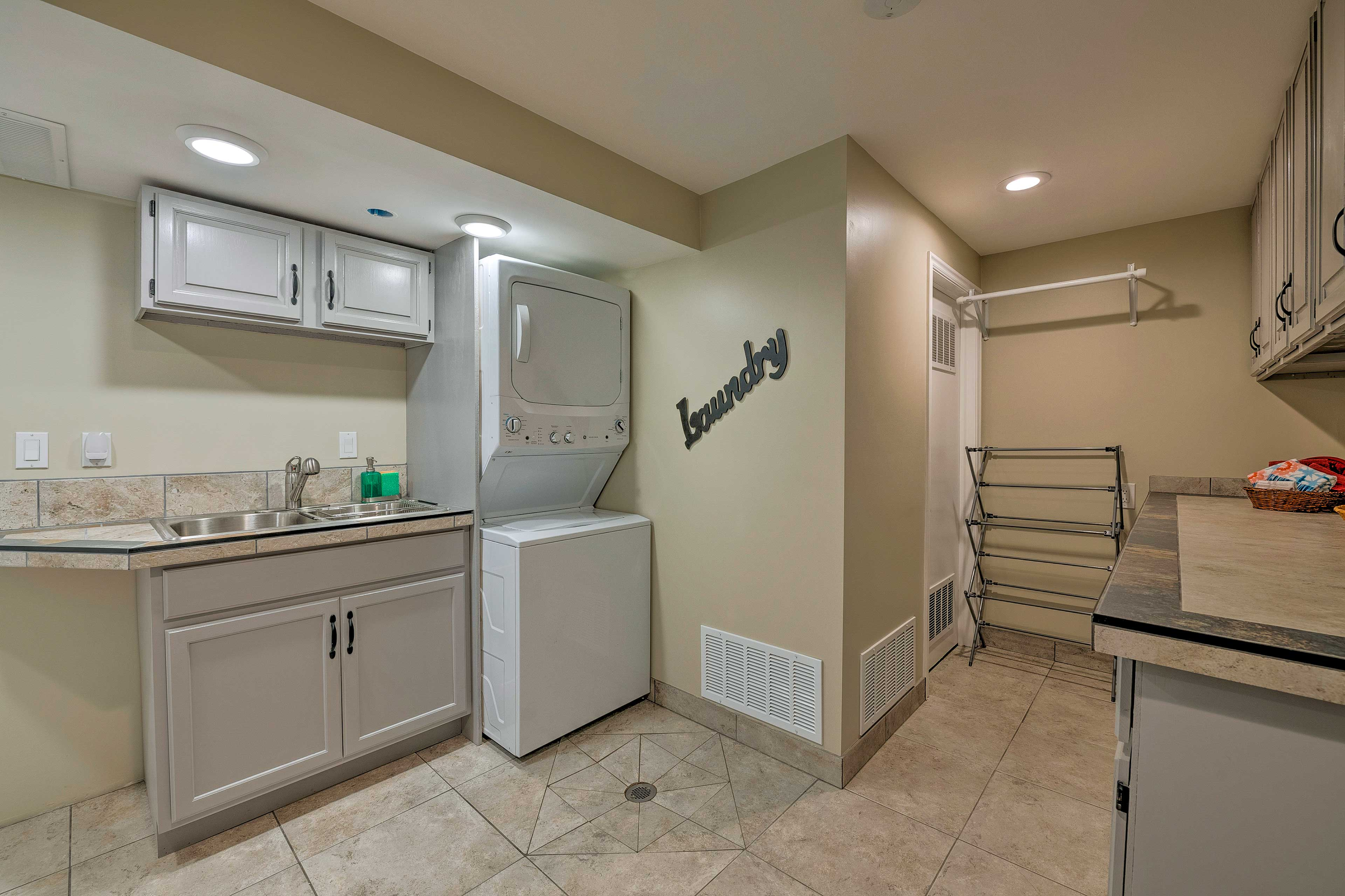 There is even a washer and dryer for you to use during your stay.