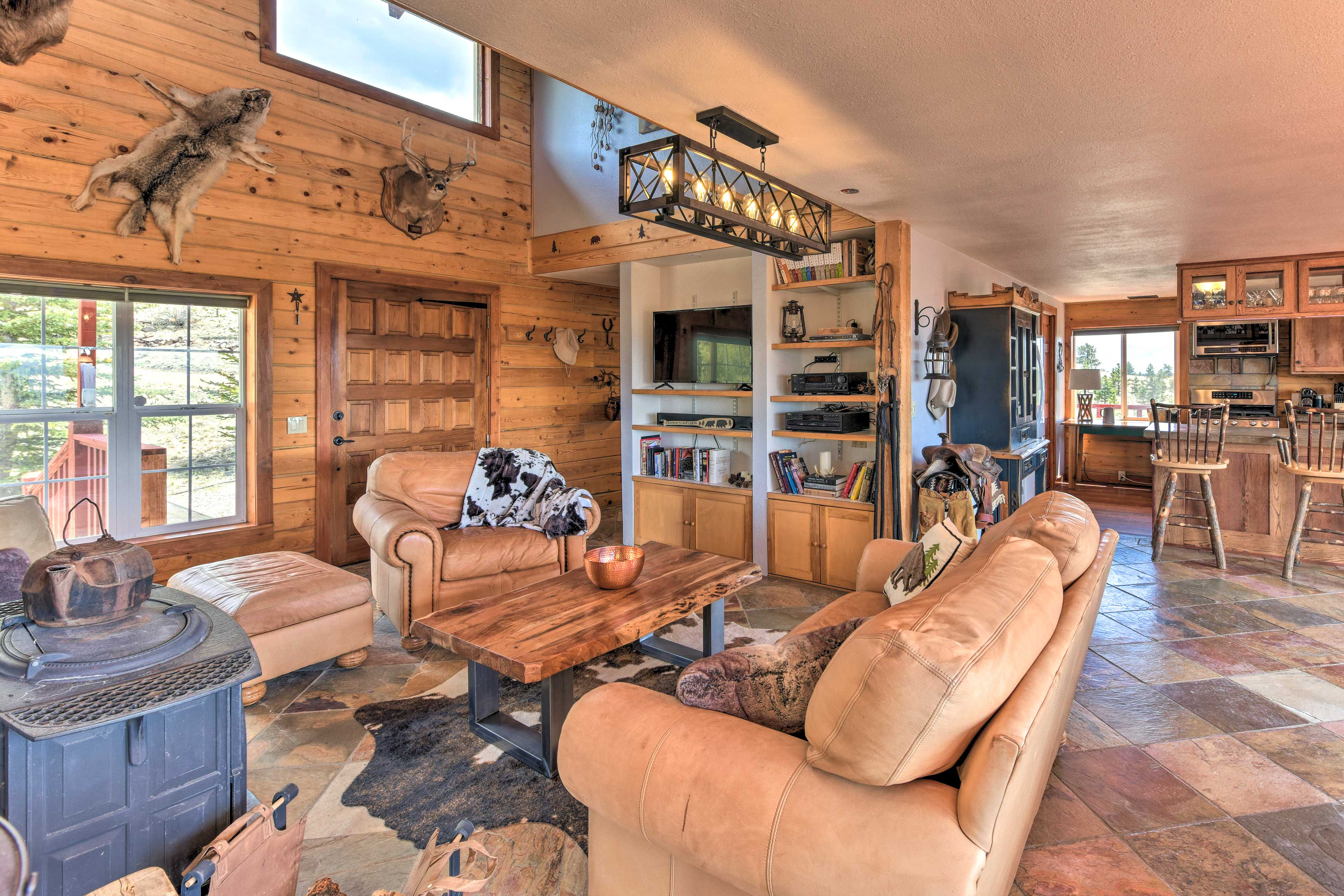This open-concept floor plan offers plenty of space for everyone to spread out.