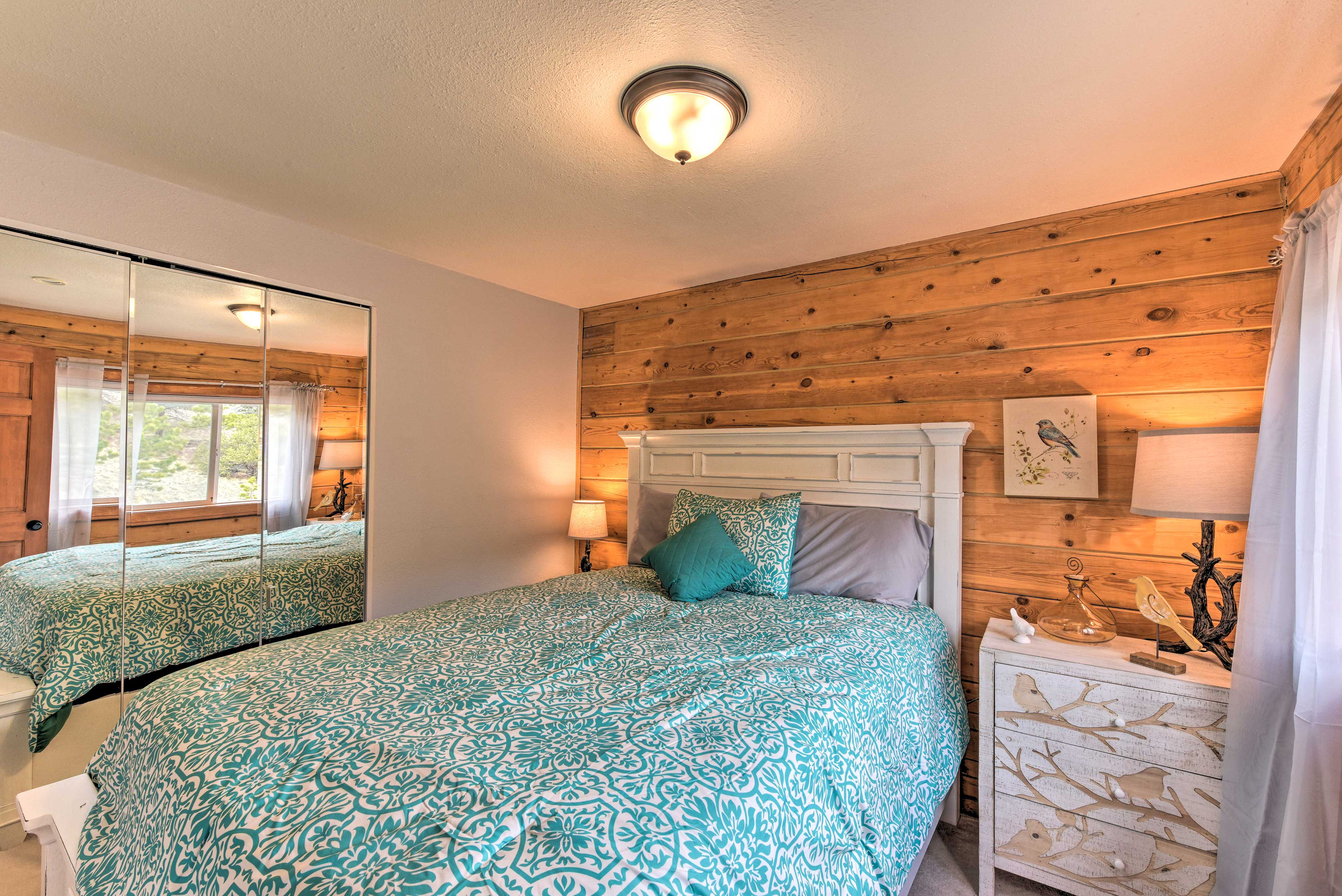 The second bedroom also features a queen bed.