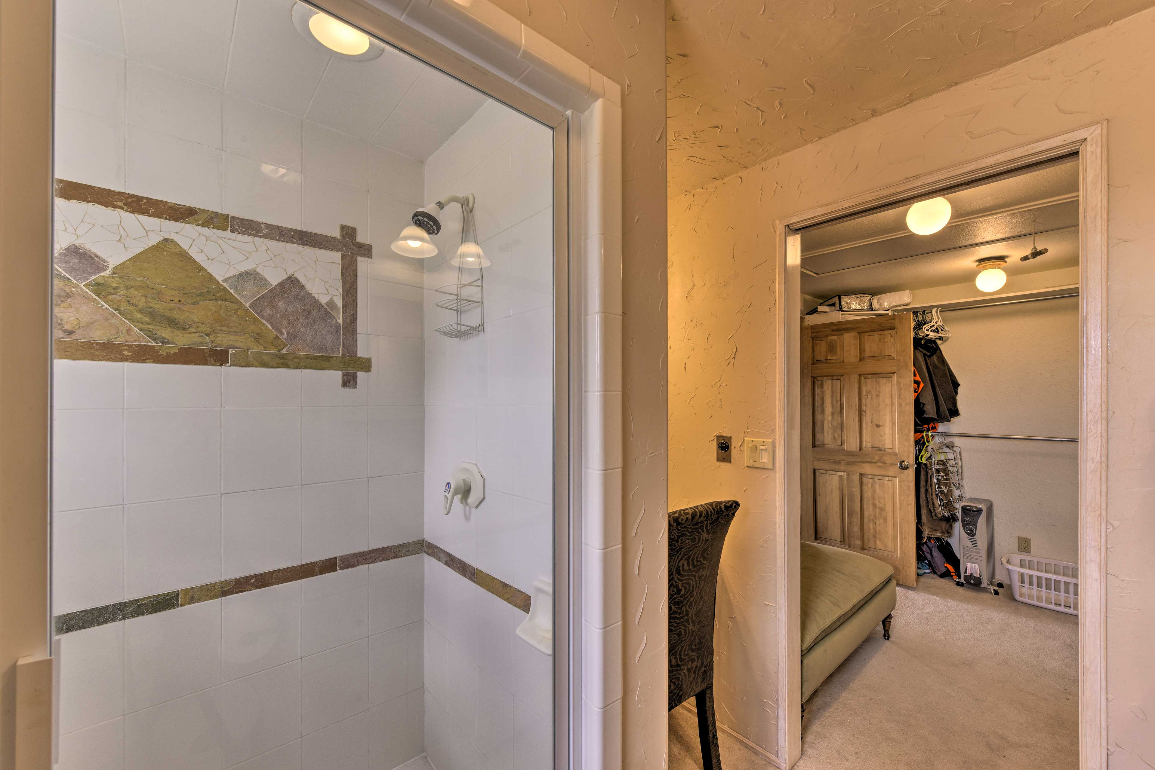 Take a refreshing shower after a day of fishing along the Arkansas River.