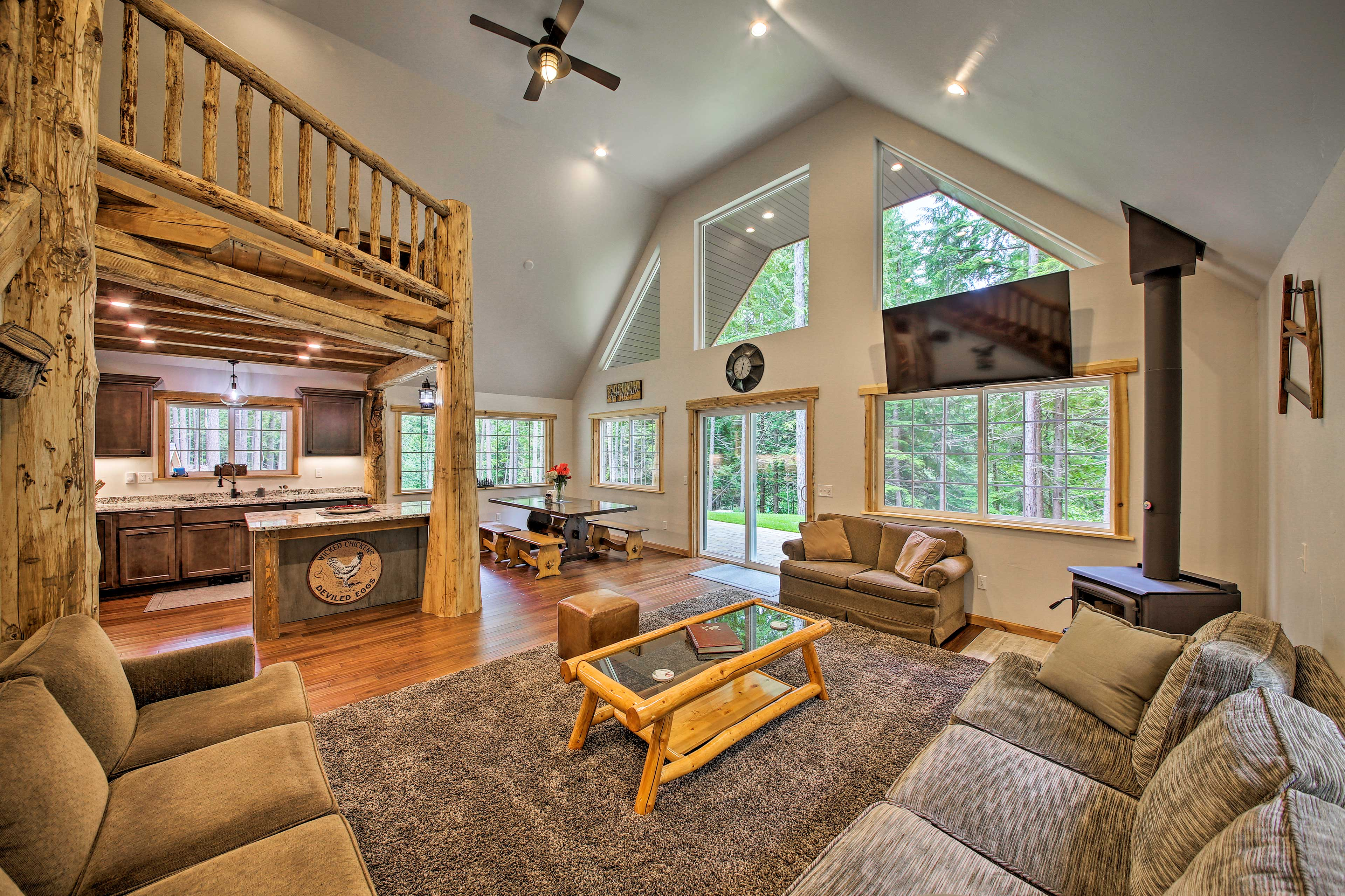 The beautiful interior spans 1,570 square feet.