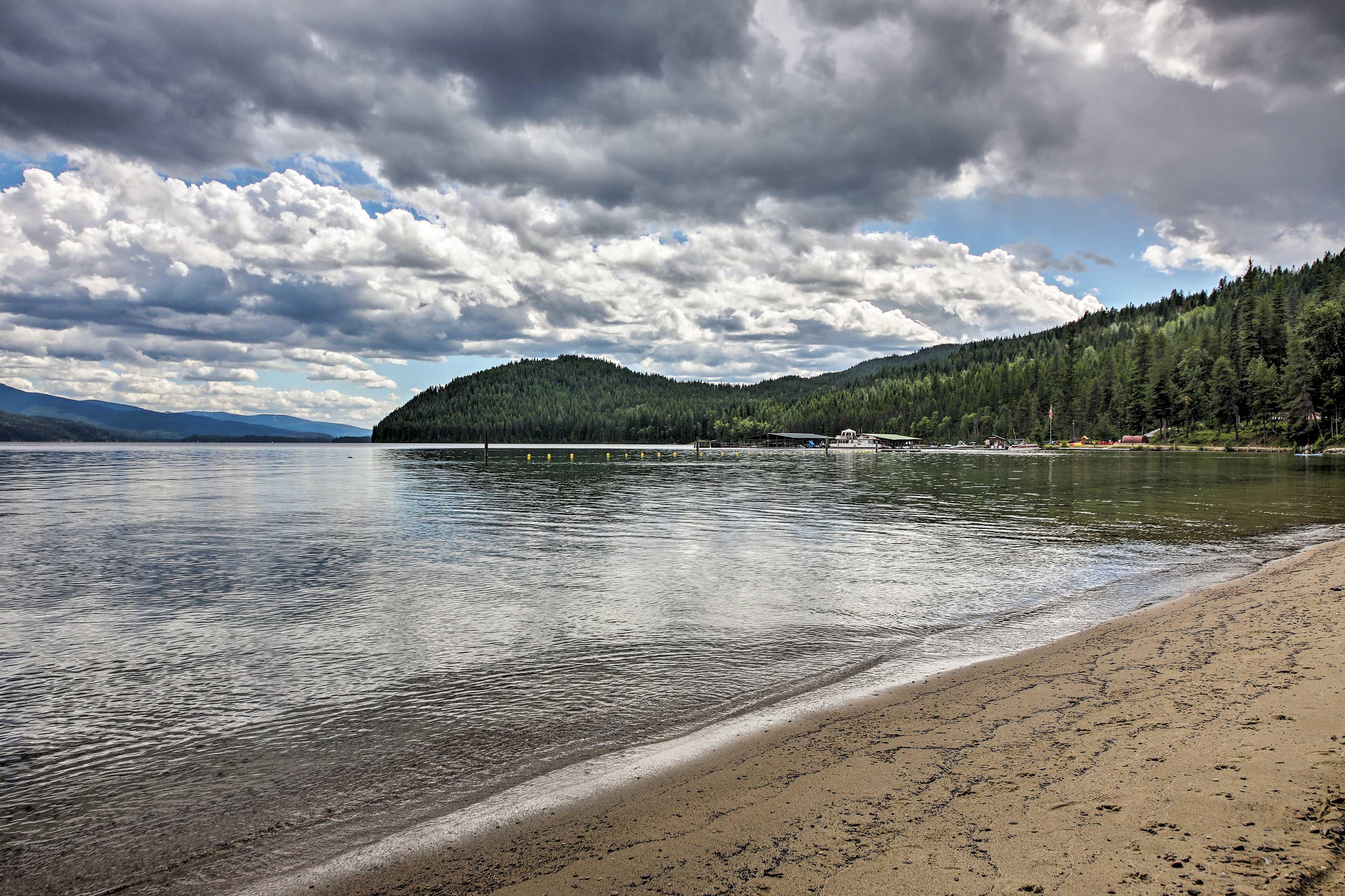 Priest Lake is 0.2 miles away.