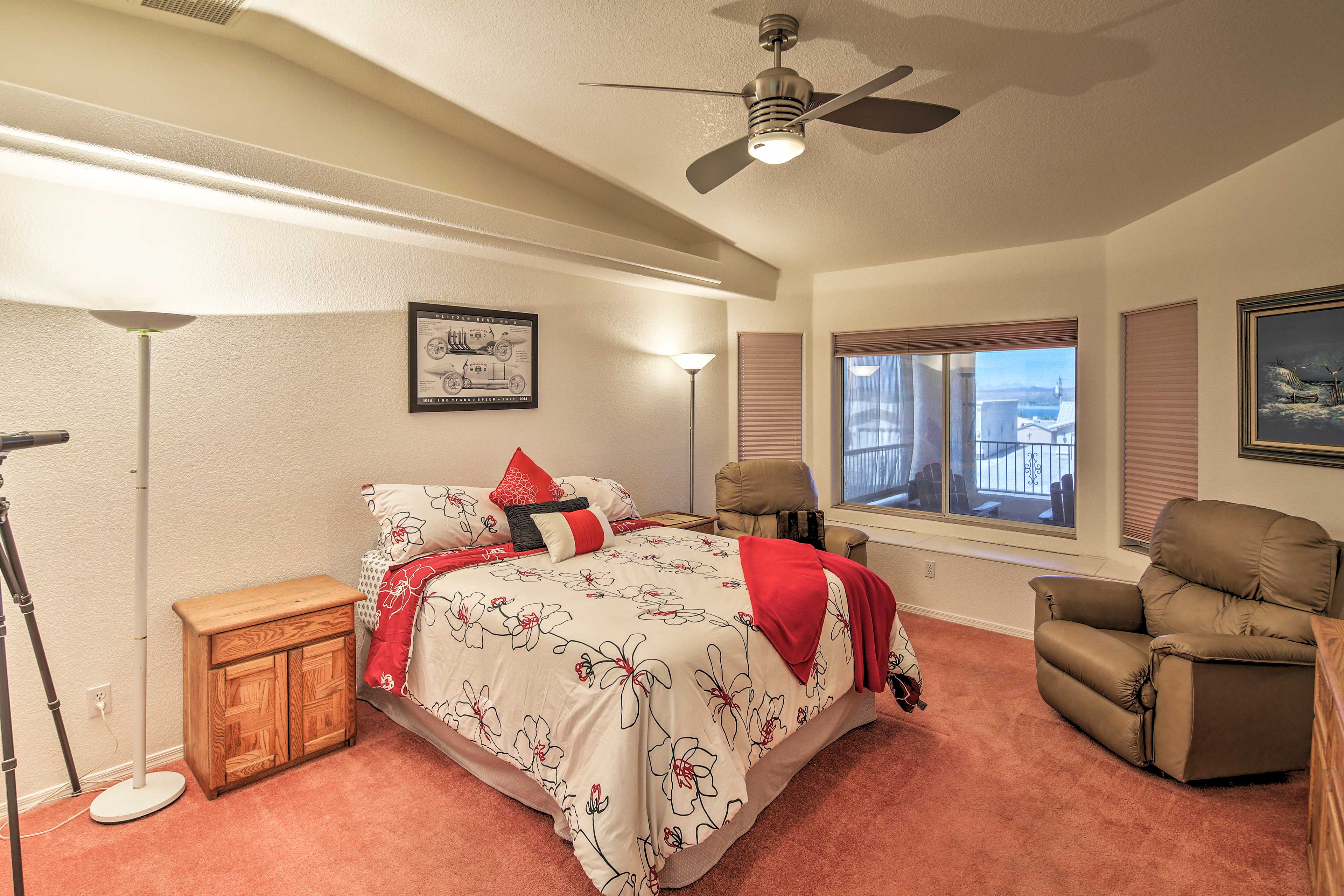 Choose from one of the 3 bedrooms to sleep in.