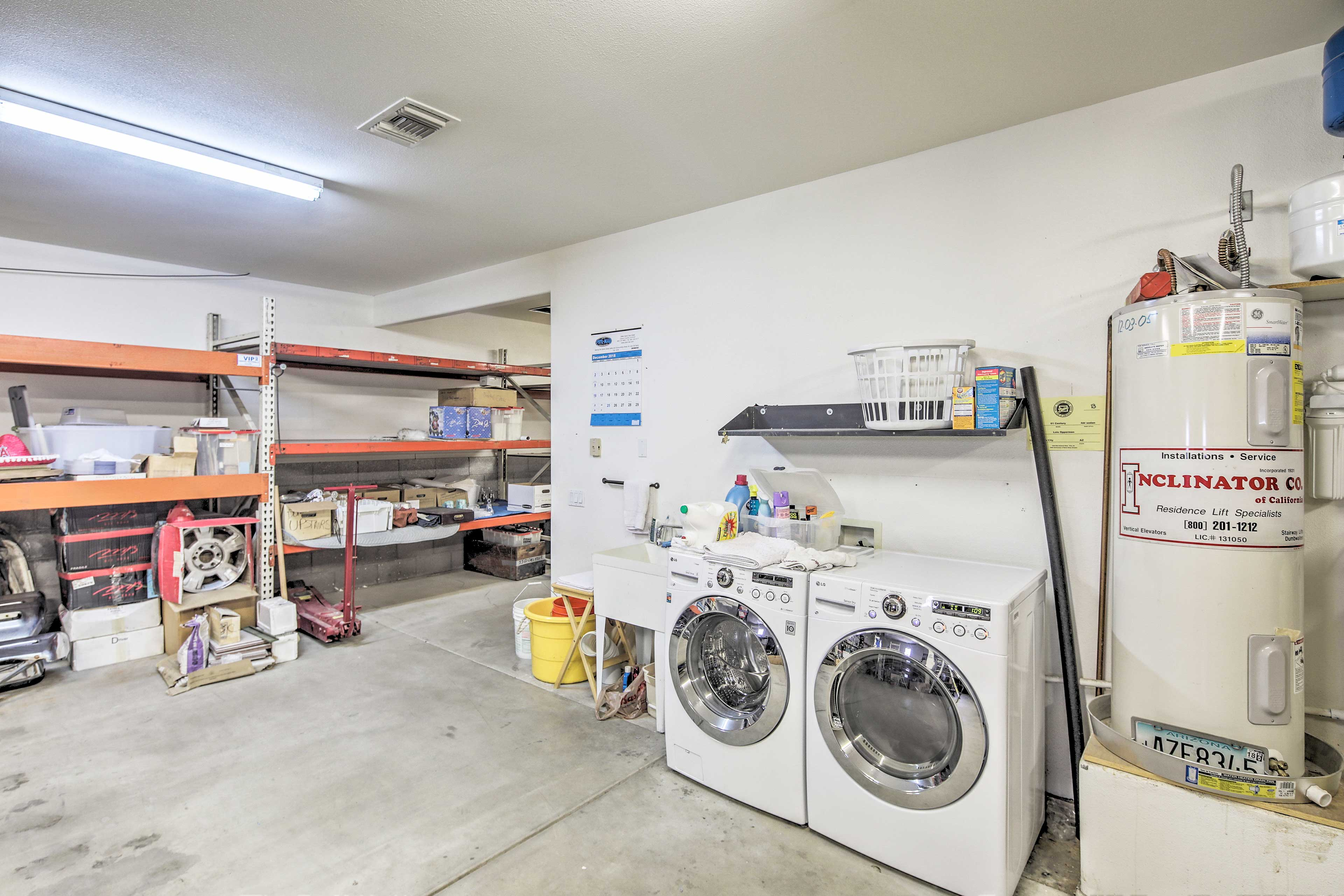 Throw in a load of laundry to keep your towels and bathing suits dry.