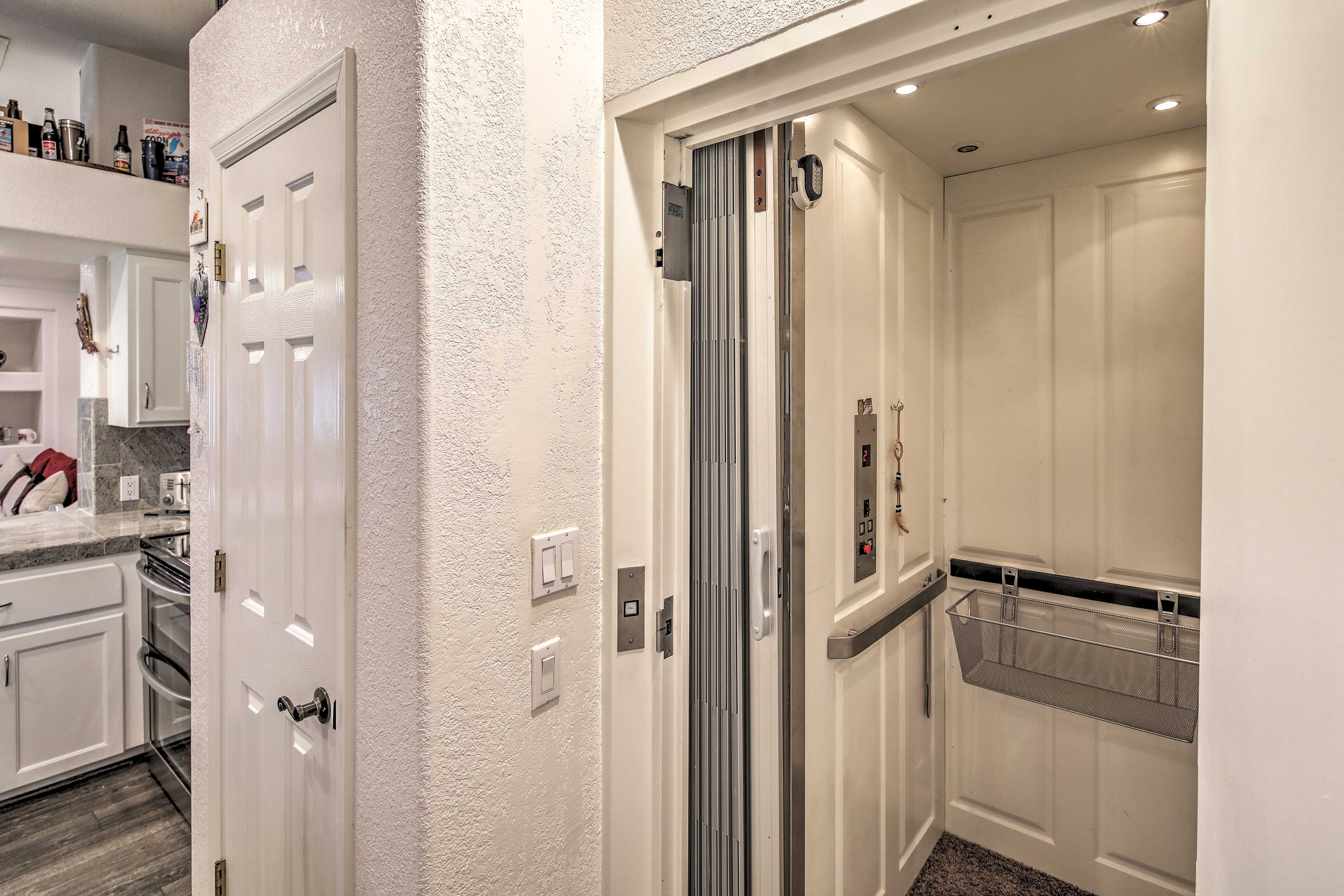 An elevator makes life easier for the mobility impaired.