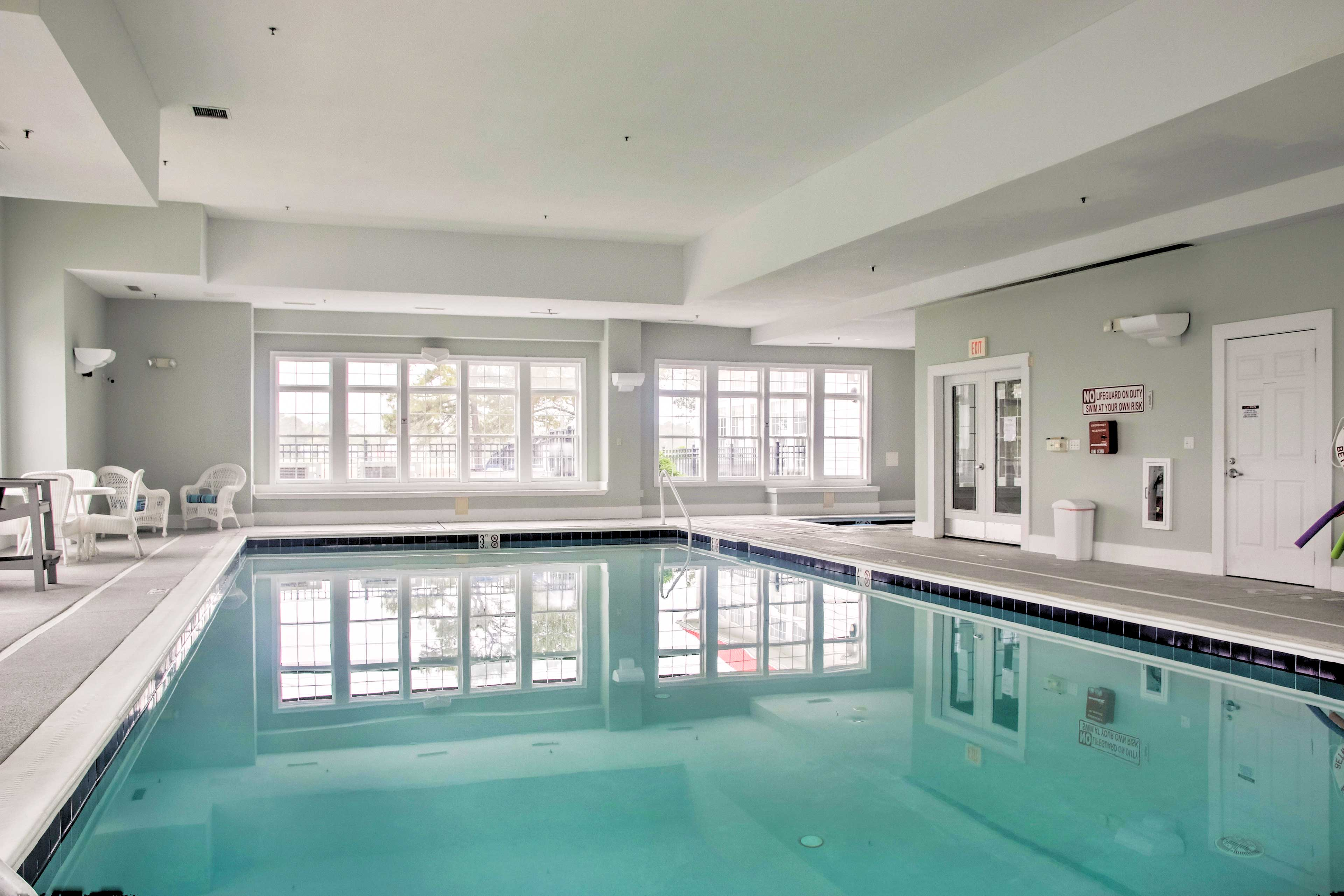This Ocean View resort features numerous amenities like indoor & outdoor pools.