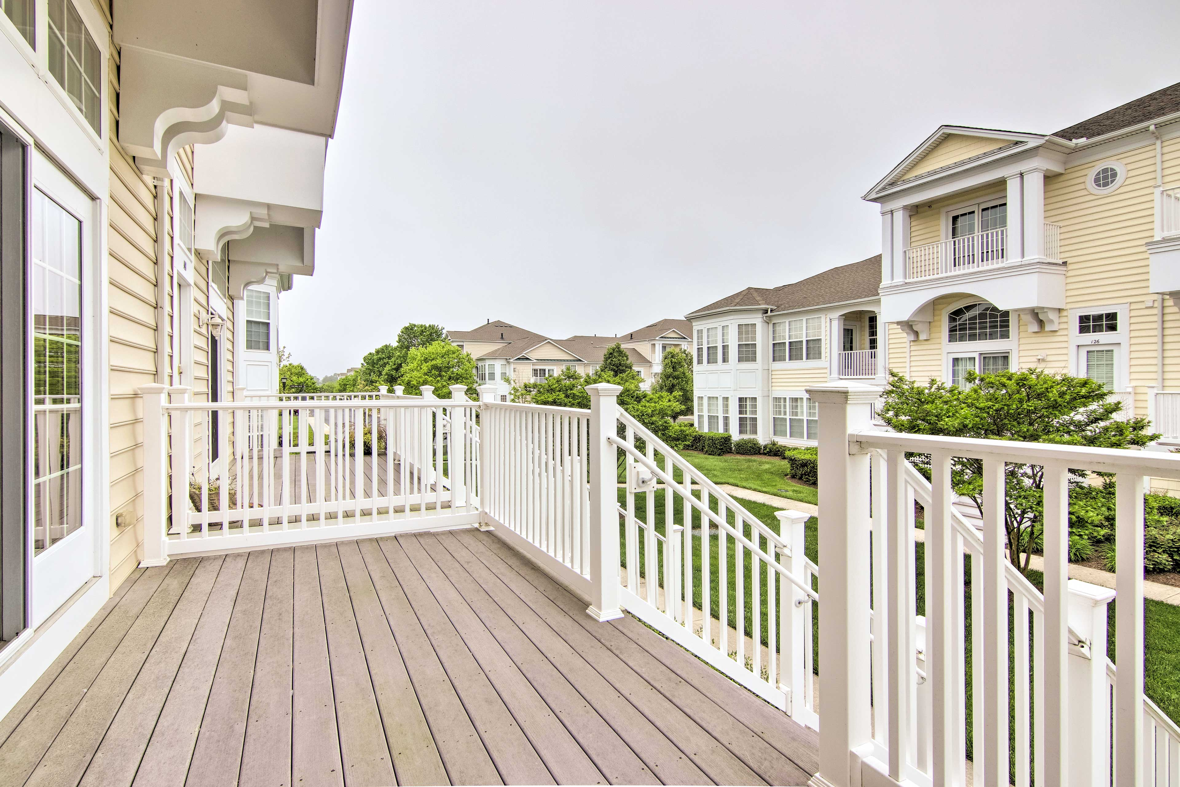 This charming towhome is located a short bike ride from the beach.