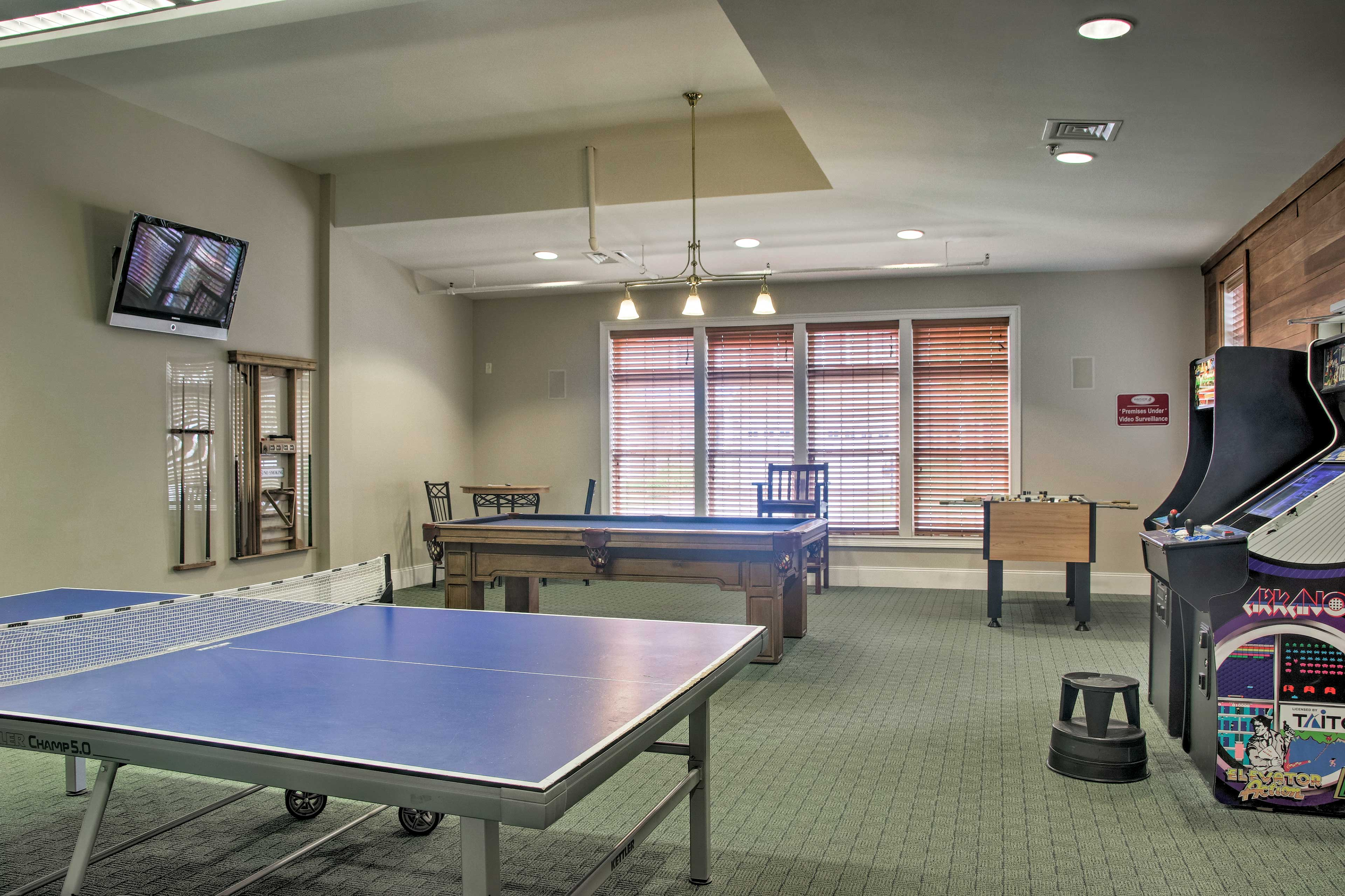 When you stay at this townhome, you'll enjoy access to a clubhouse game room!