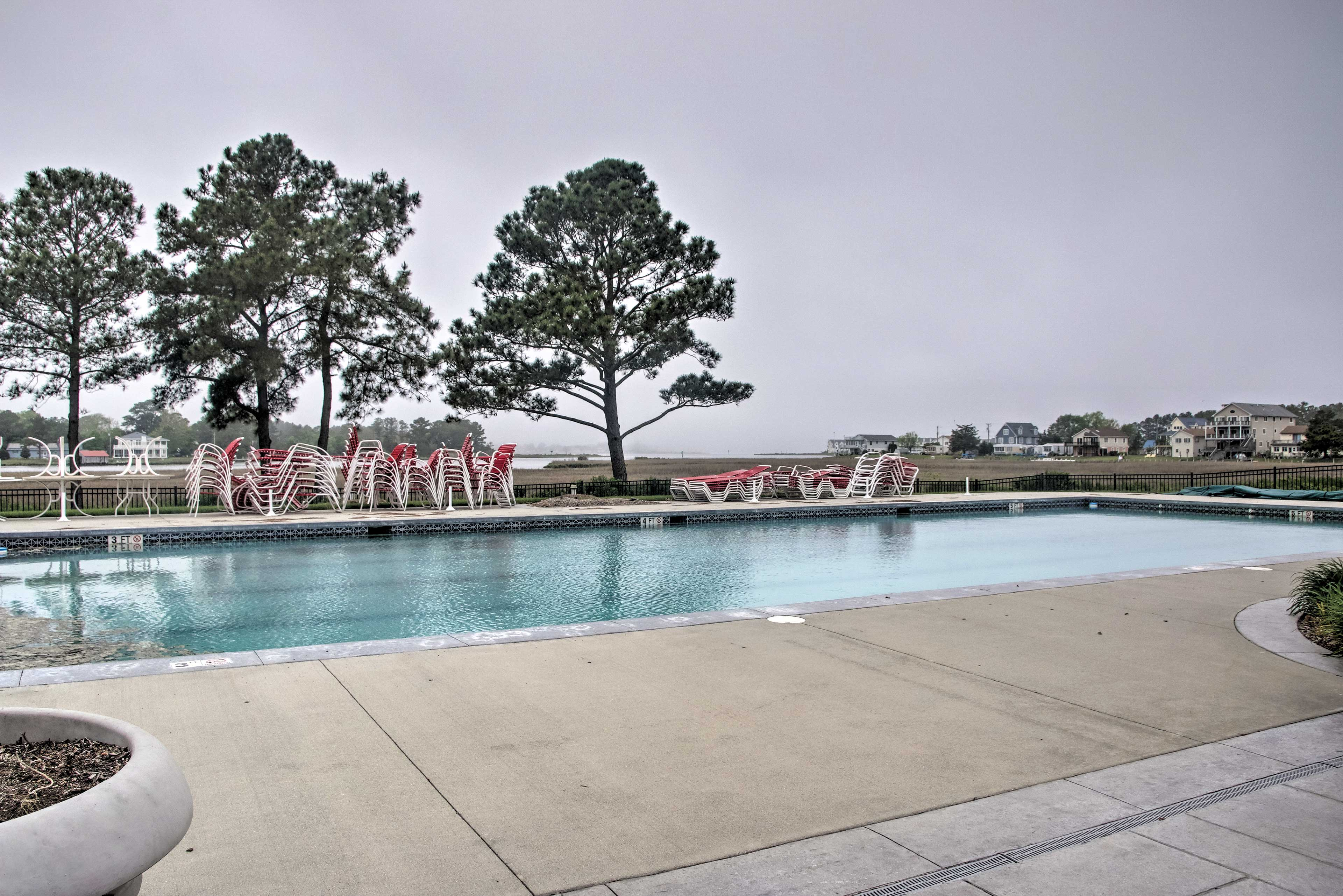 On sunny days, take advantage of the outdoor pool!