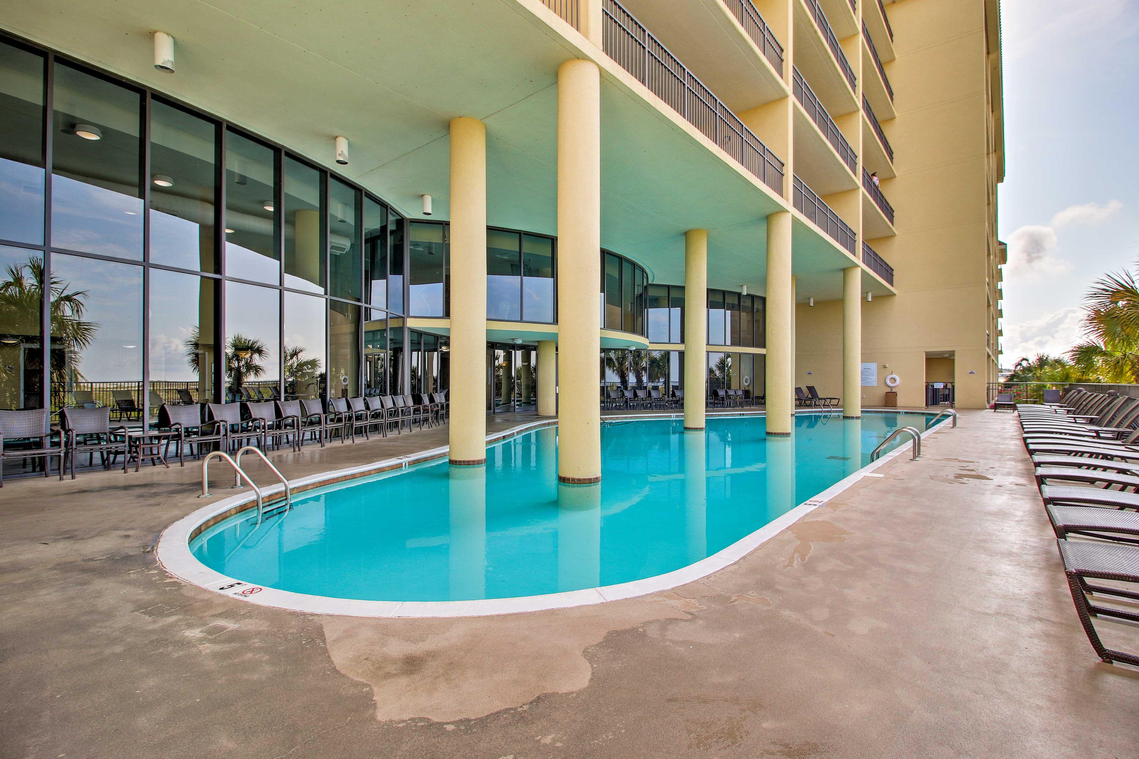 Beat the Alabama heat by splashing around in the pool.