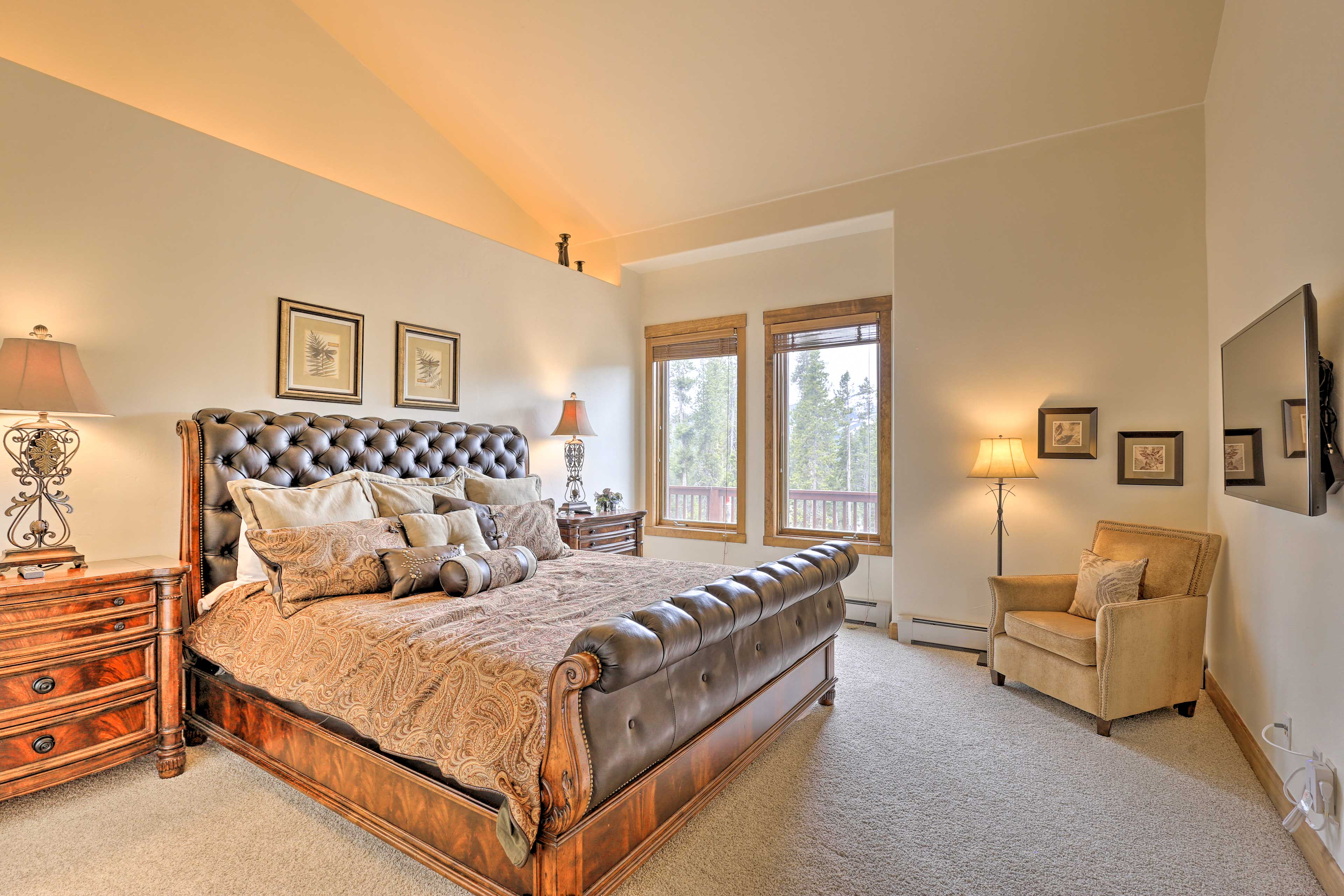 Heads of the household will want to claim this lovely master suite.
