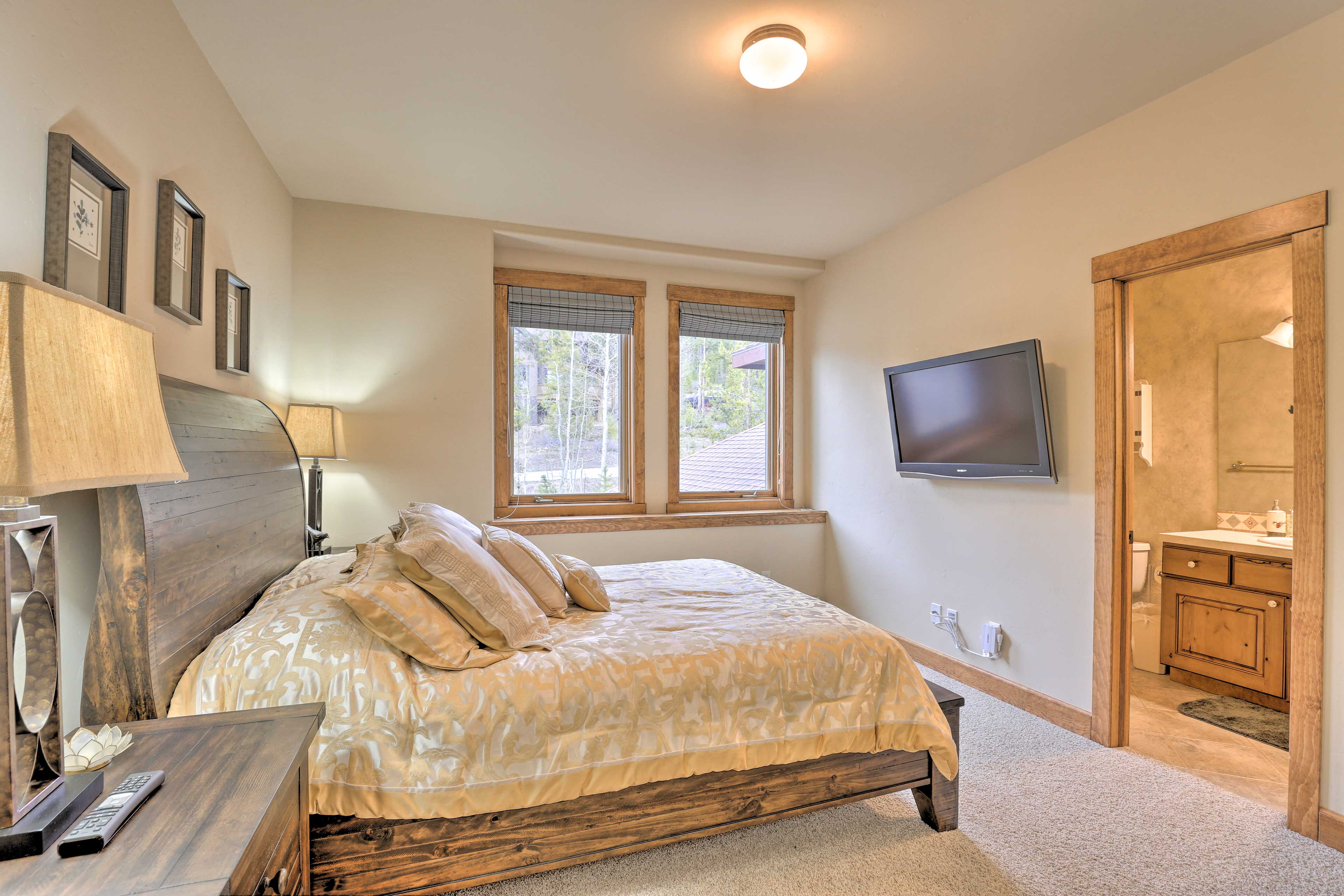 Enjoy a personal TV & en-suite bath in this room as well.