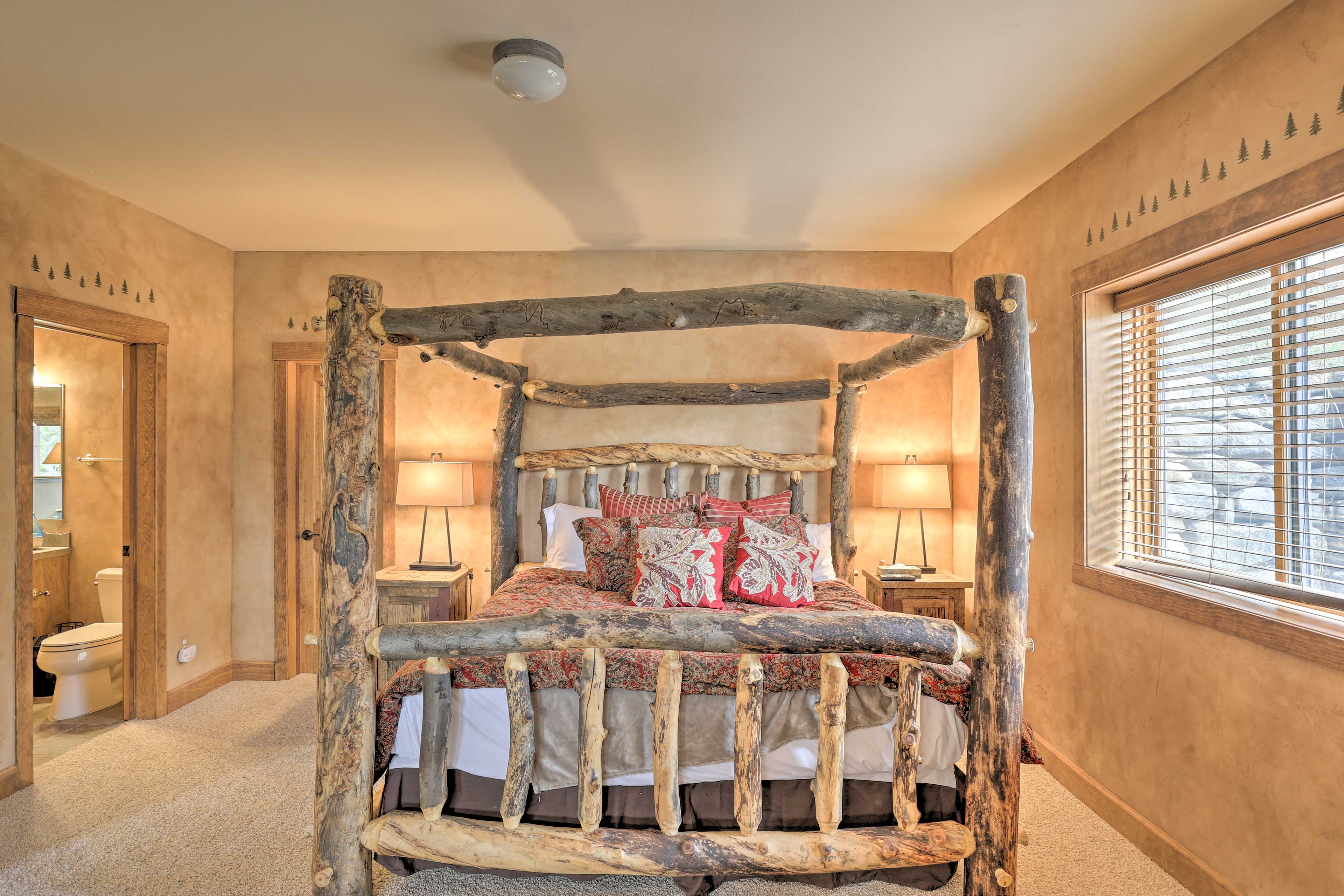 Two more travelers will be more than comfortable in this beautiful king bed.