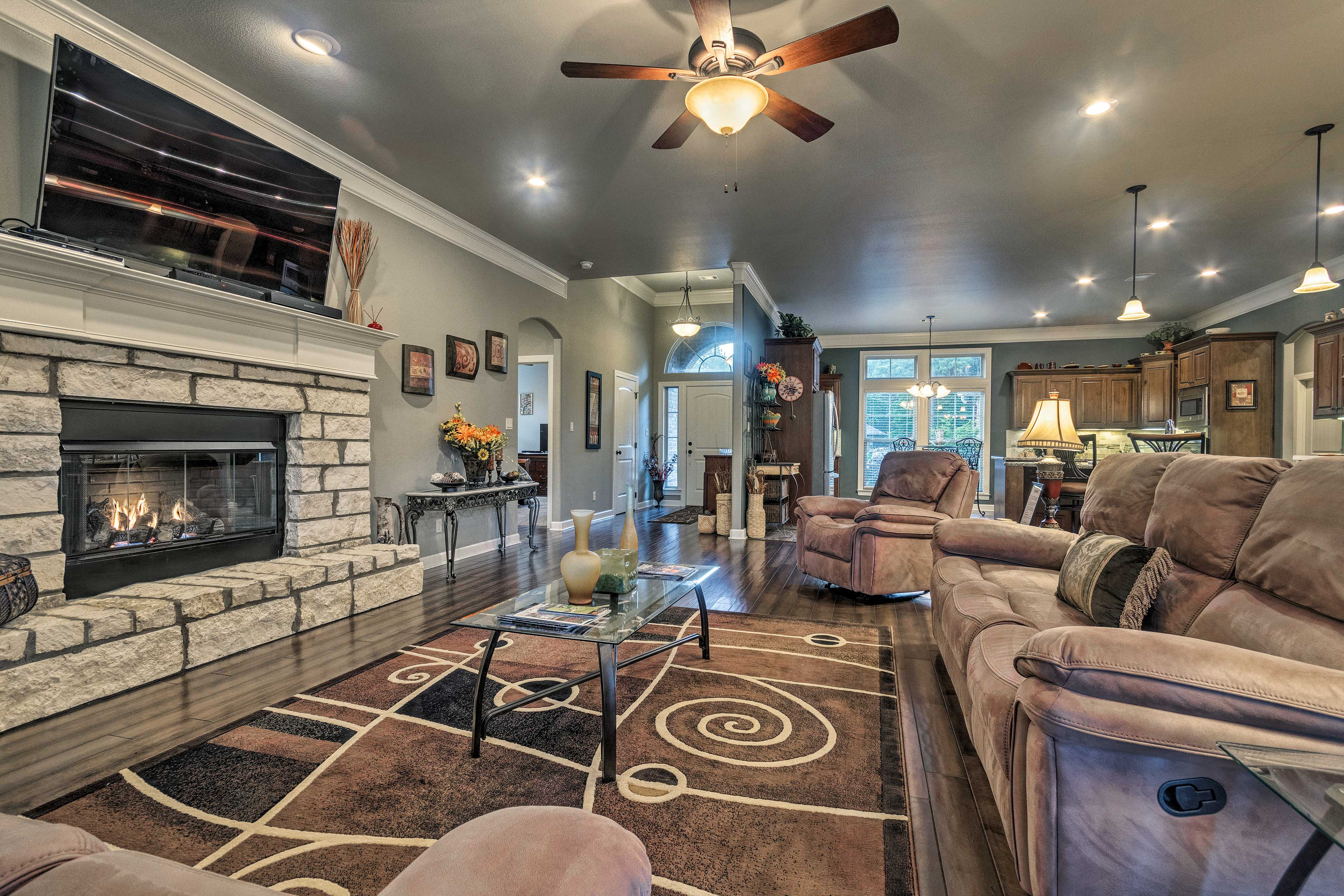 You'll love the warmth of the gas fireplace.