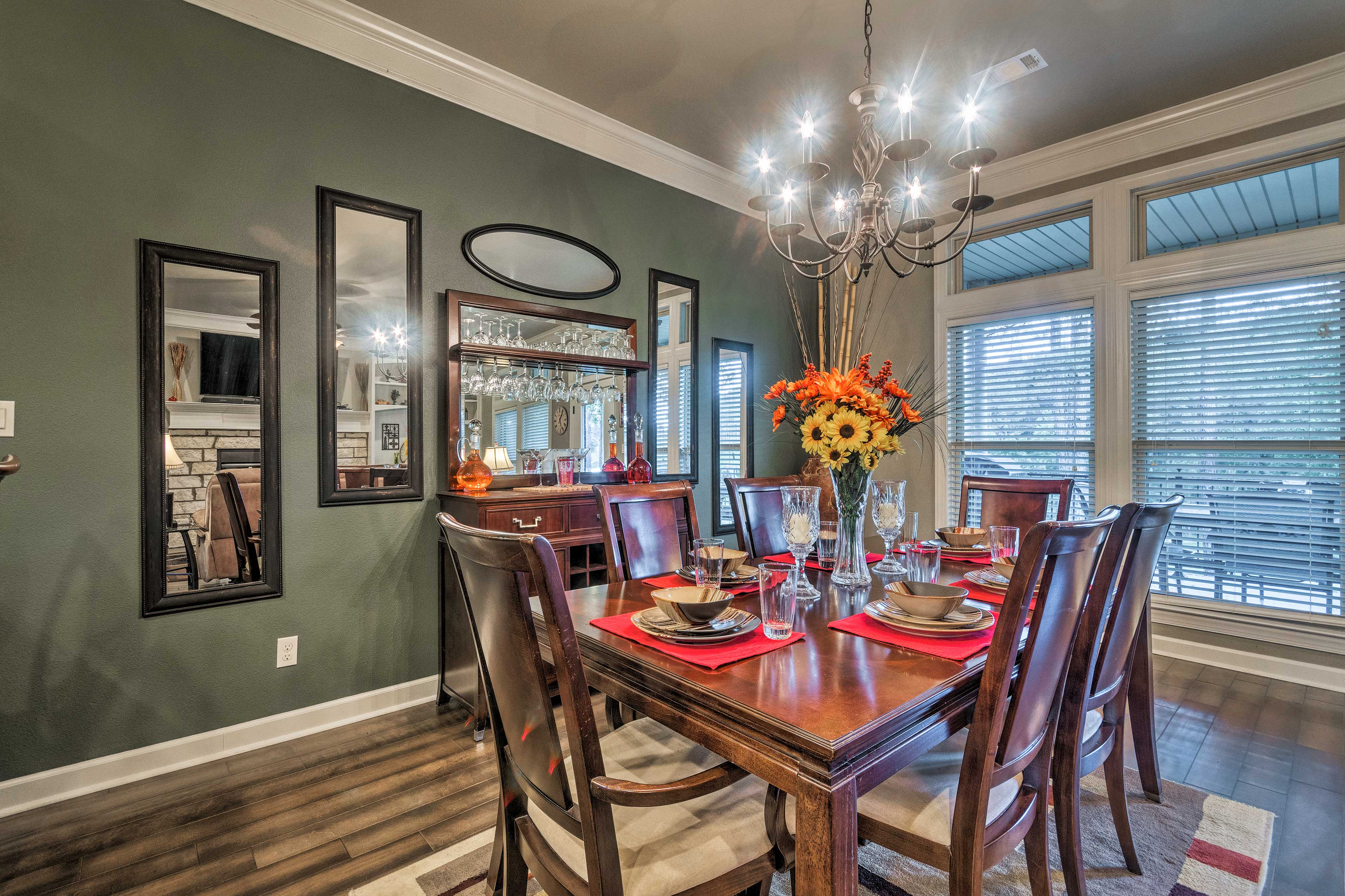 Gather around the dining table for a memorable meal.