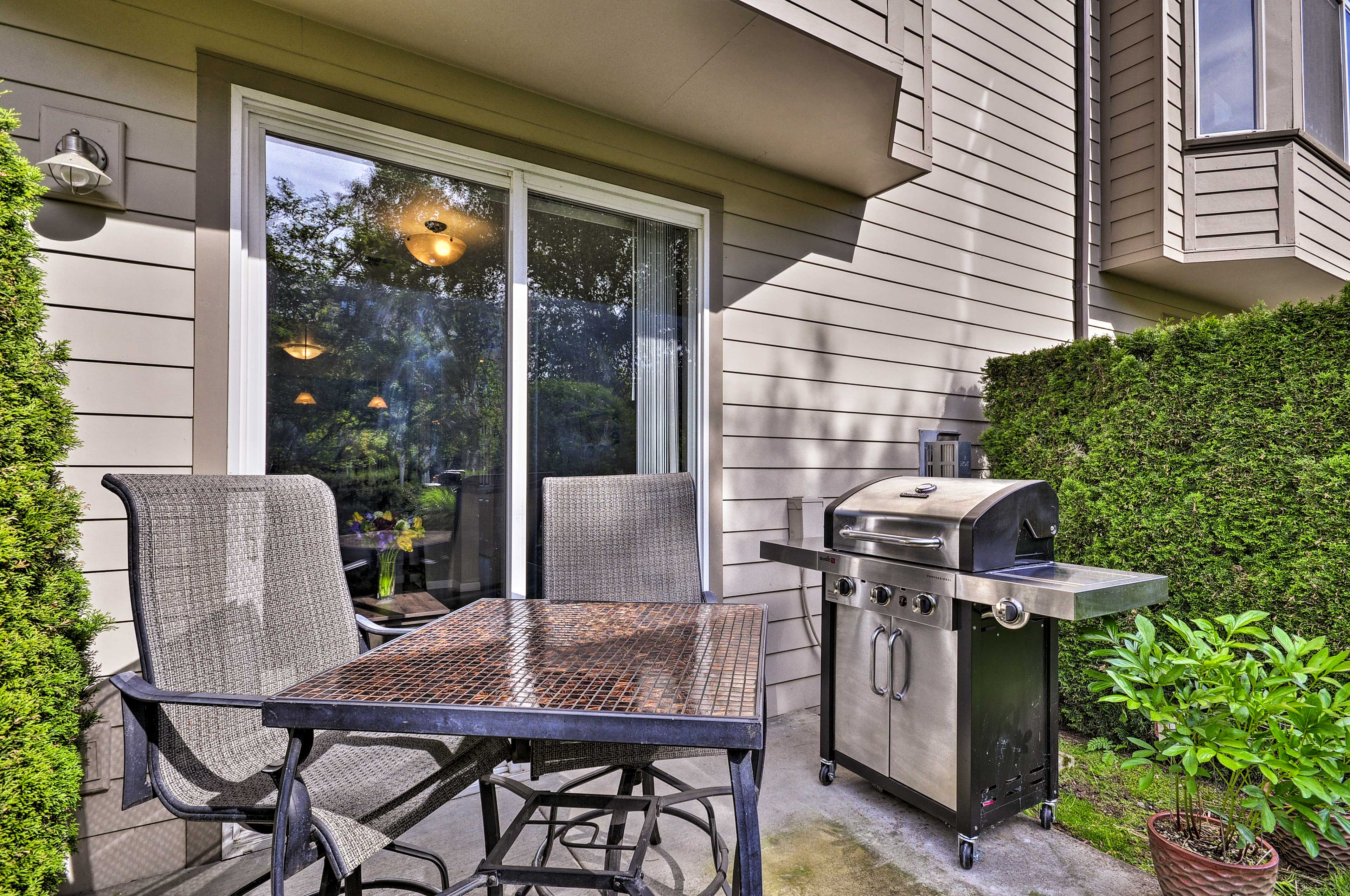 Pray for sun and enjoy an afternoon on the deck BBQ-ing lunch.