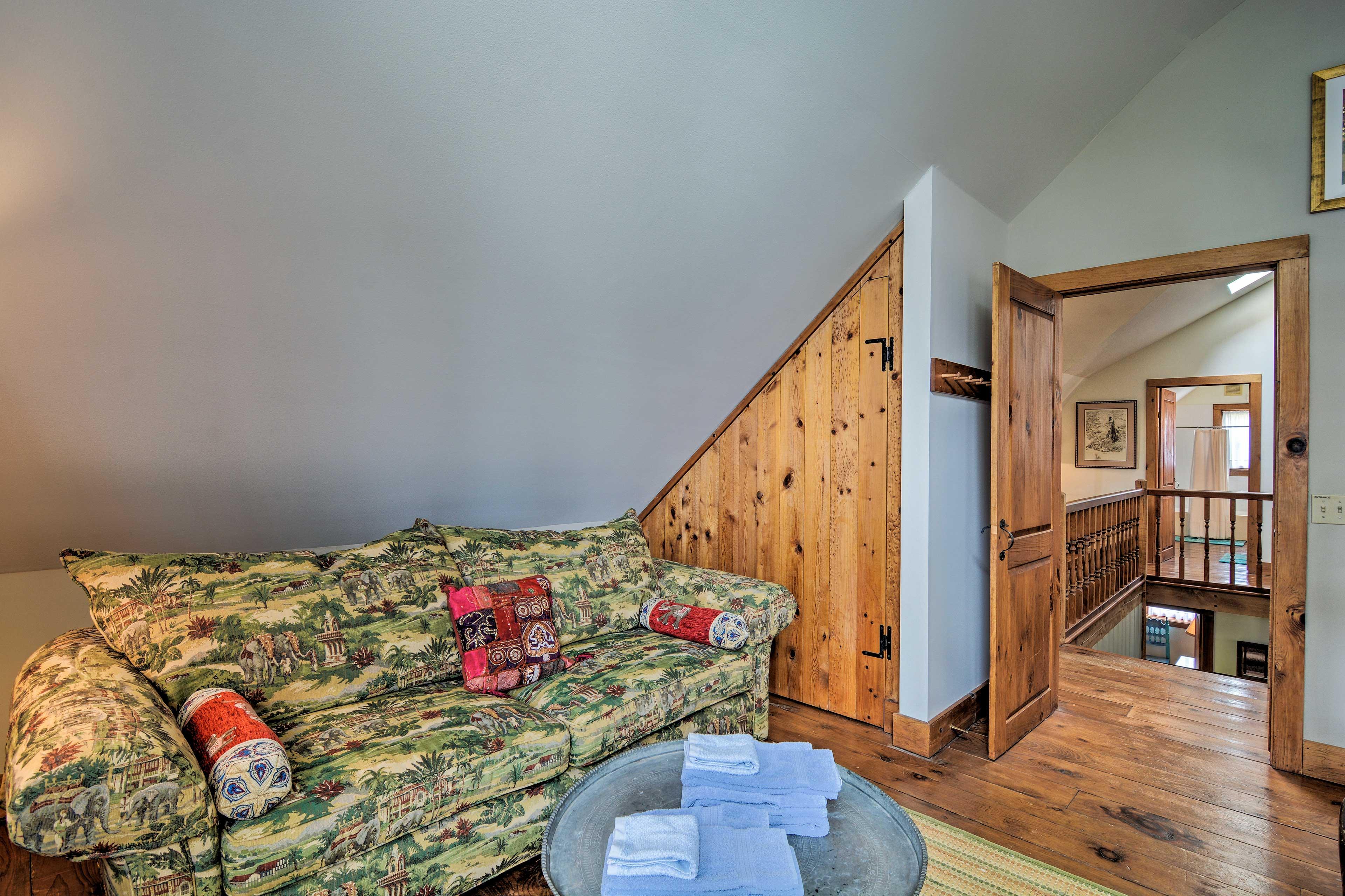 Find a quiet retreat in the comfort of the bedroom.