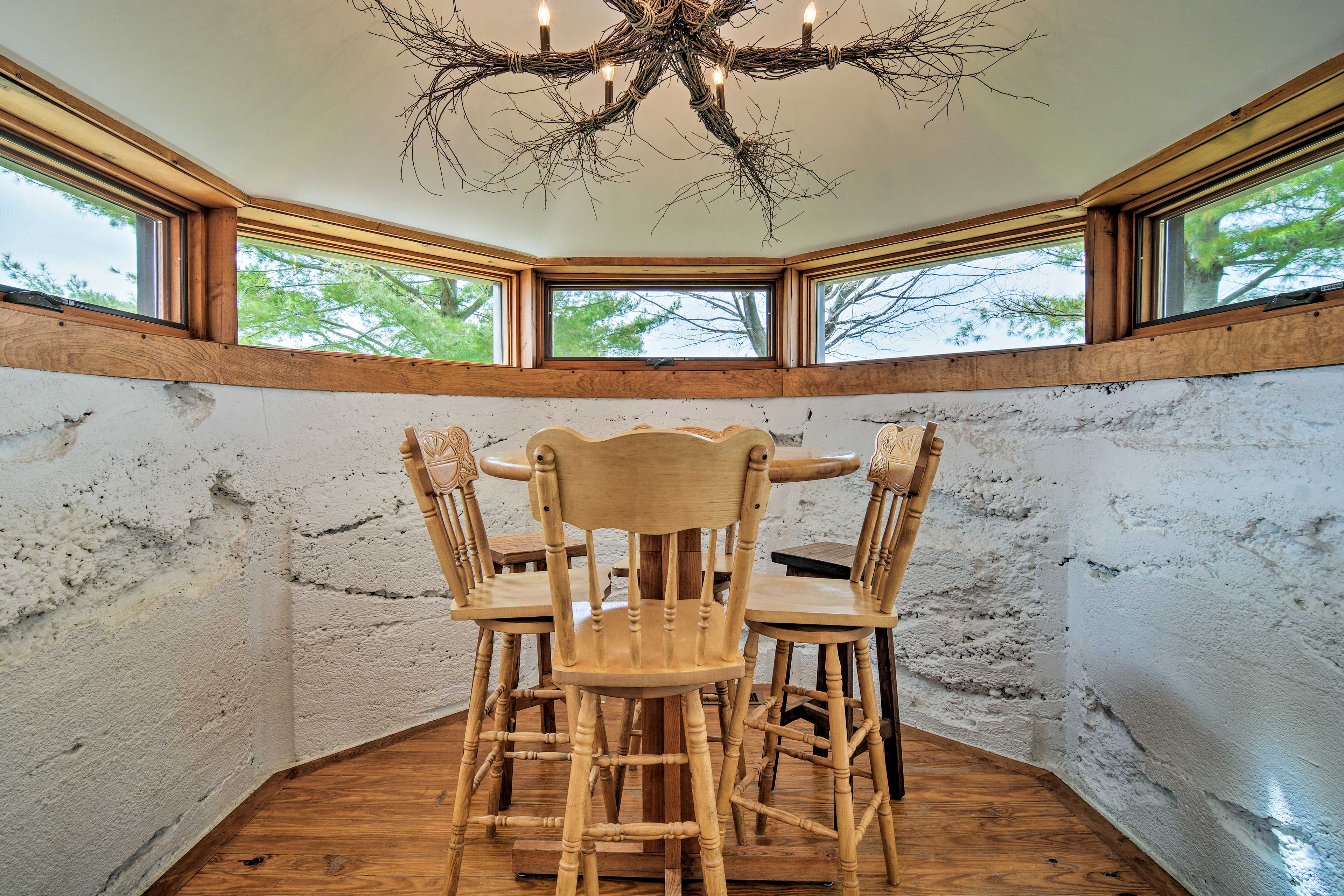 Set in the former silo, enjoy breakfast at this high-top.
