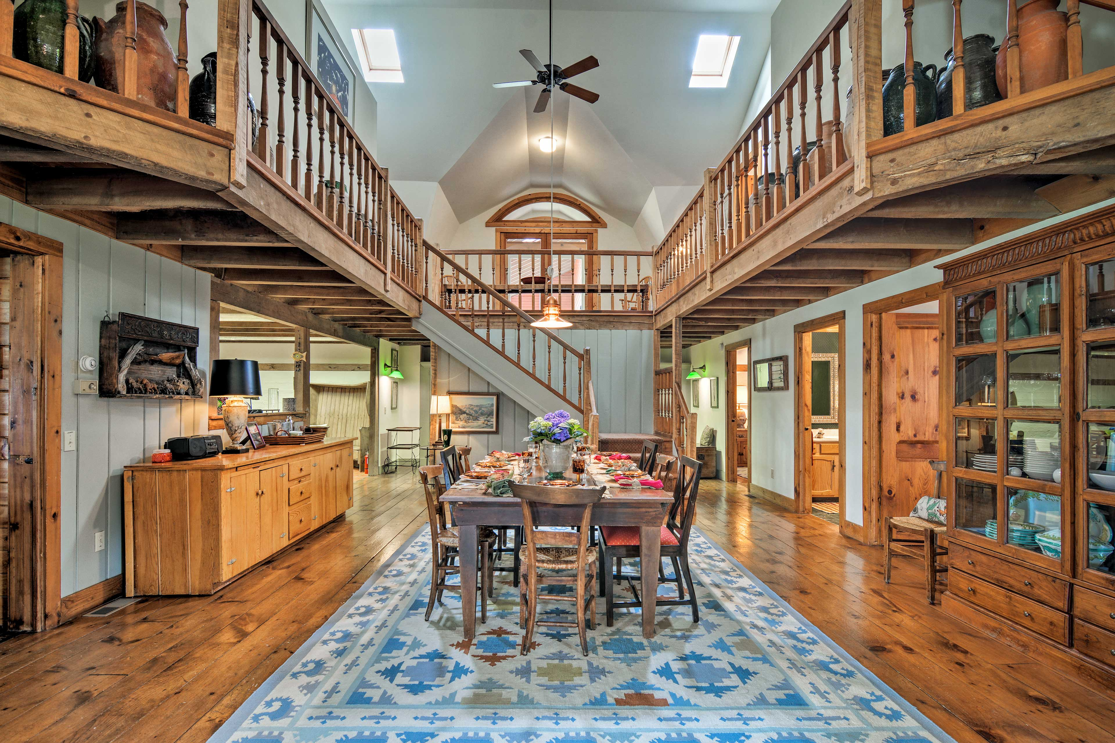 The large open floor plan is great for entertaining.