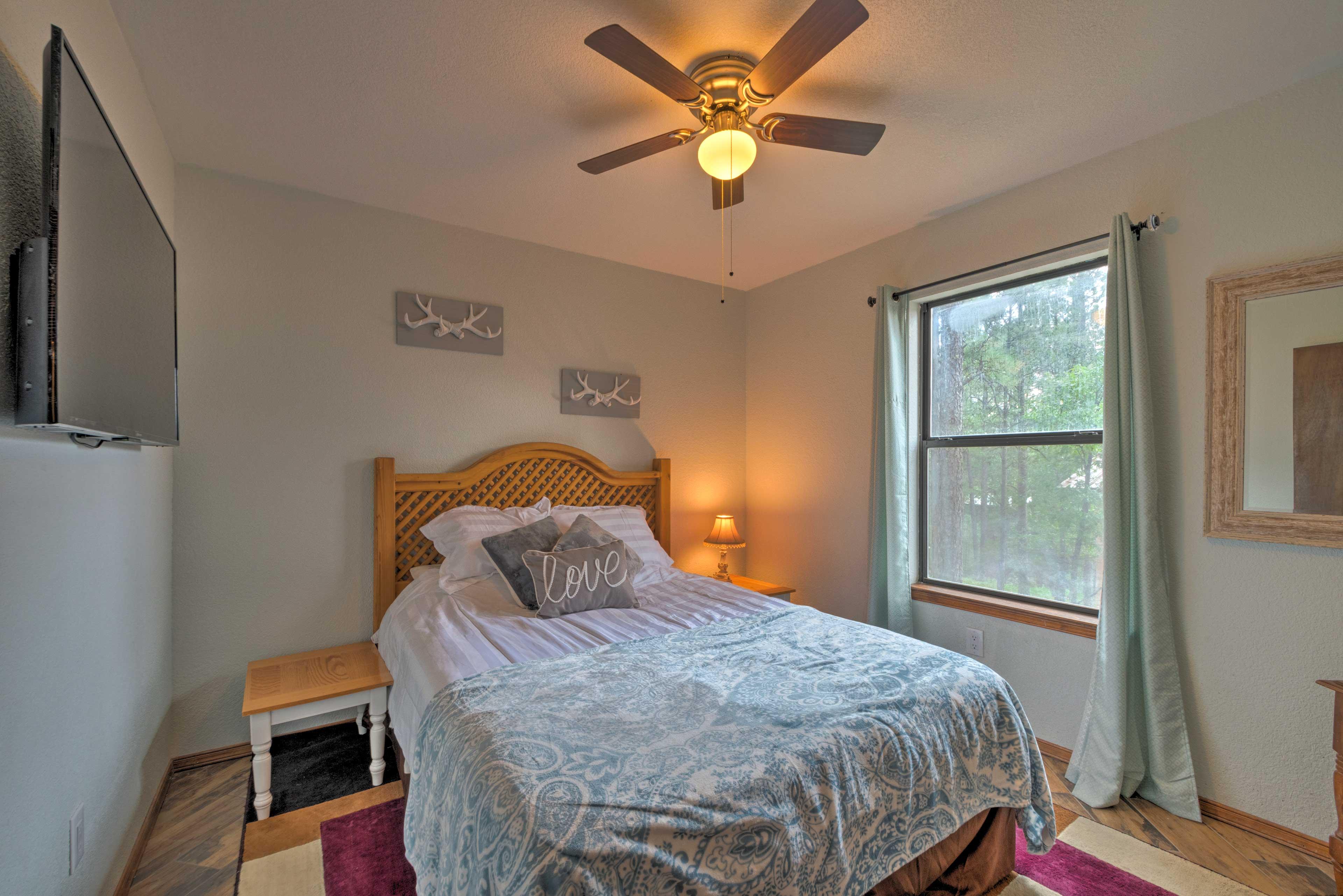 Bedroom 1 | Queen Bed | Linens Provided | Smart TV