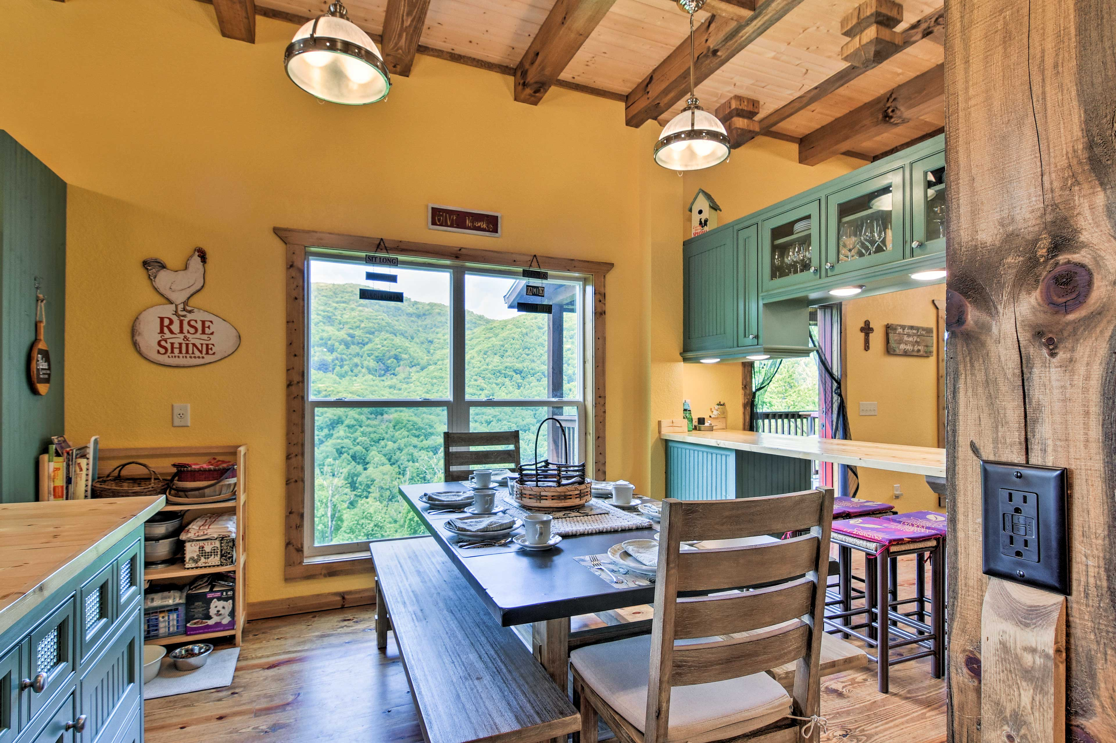 Rise & shine - mornings will be delightful with a kitchen like this!