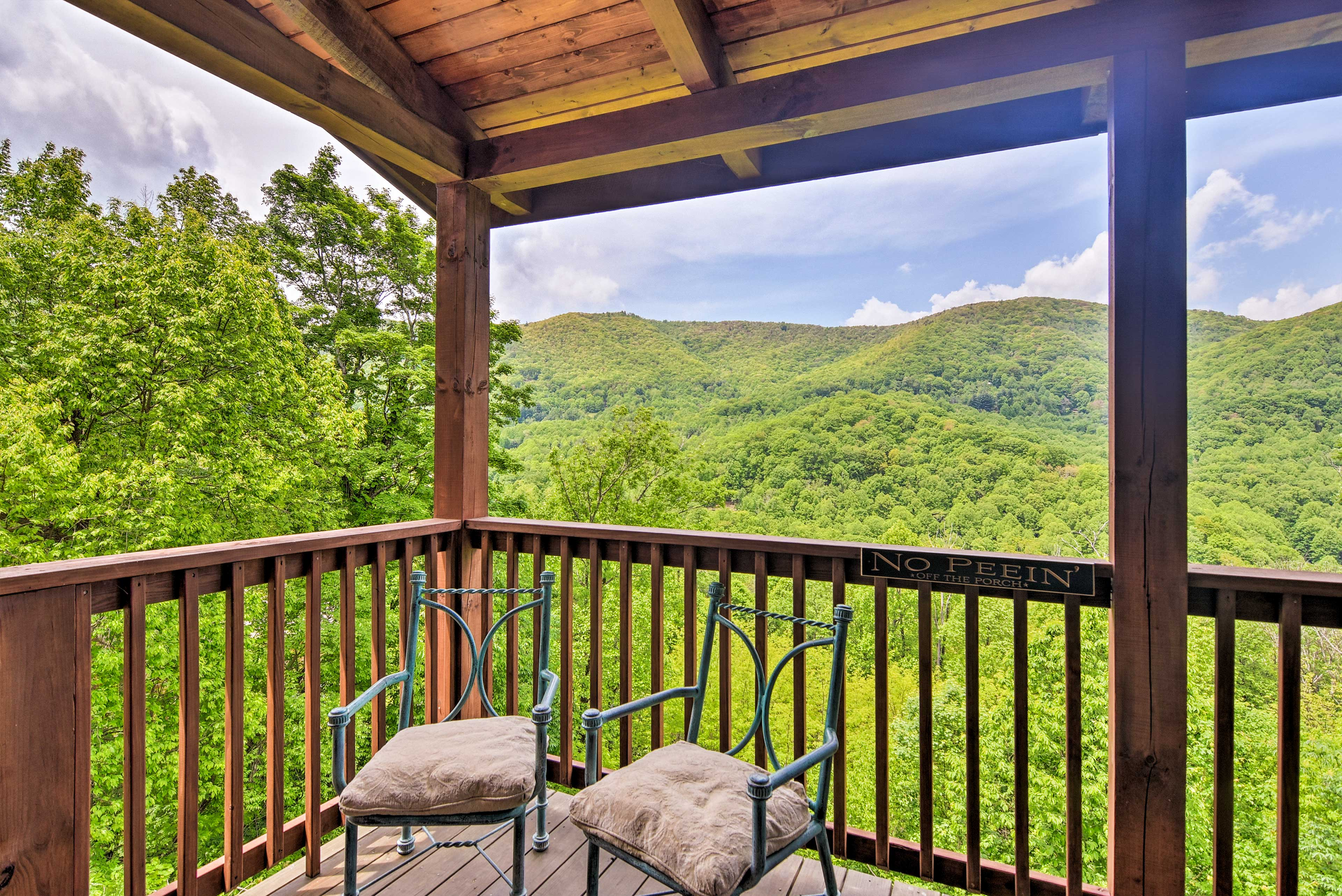 This phenomenal vacation rental property sits above the treeline.