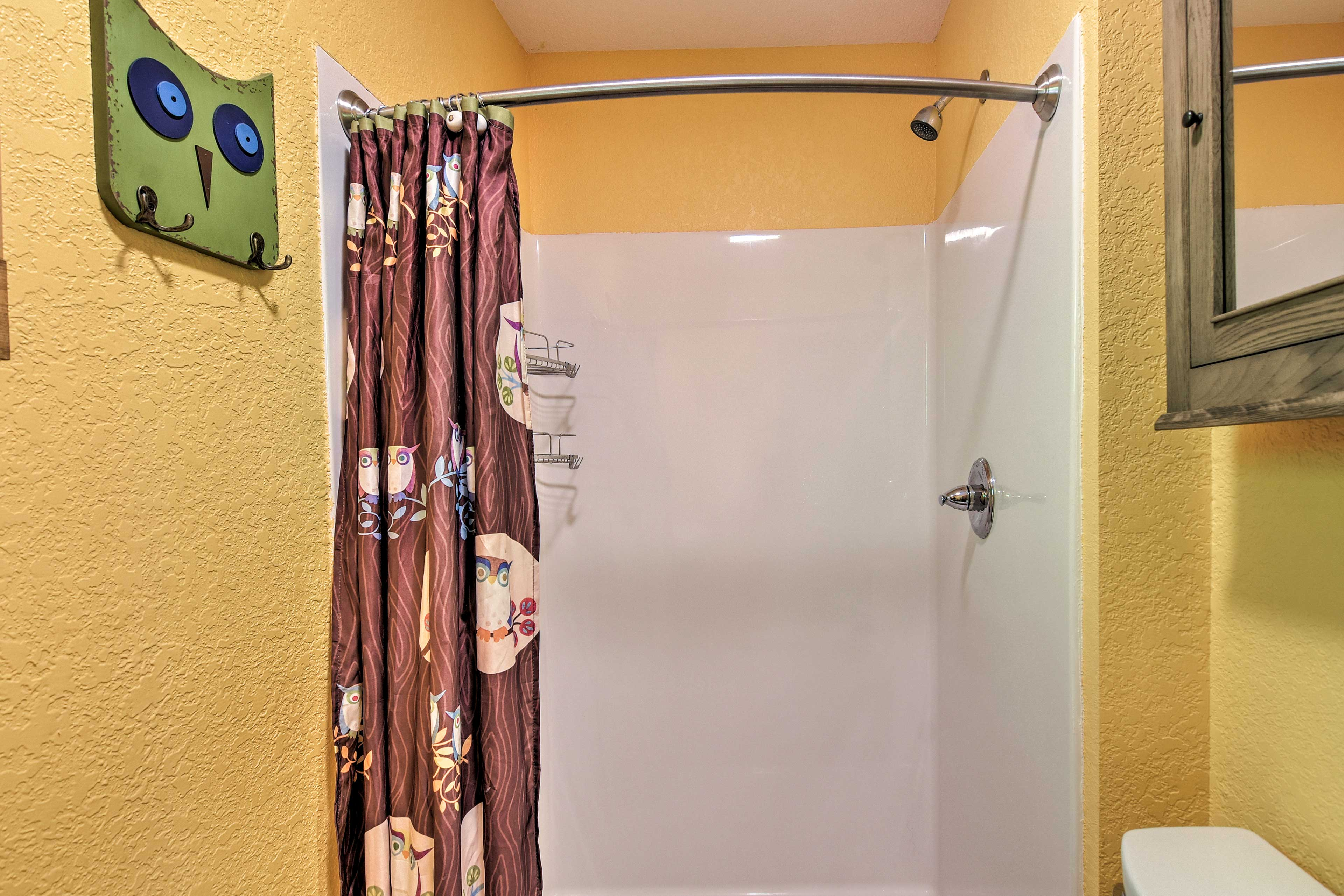 The second bathroom also features a walk-in shower.