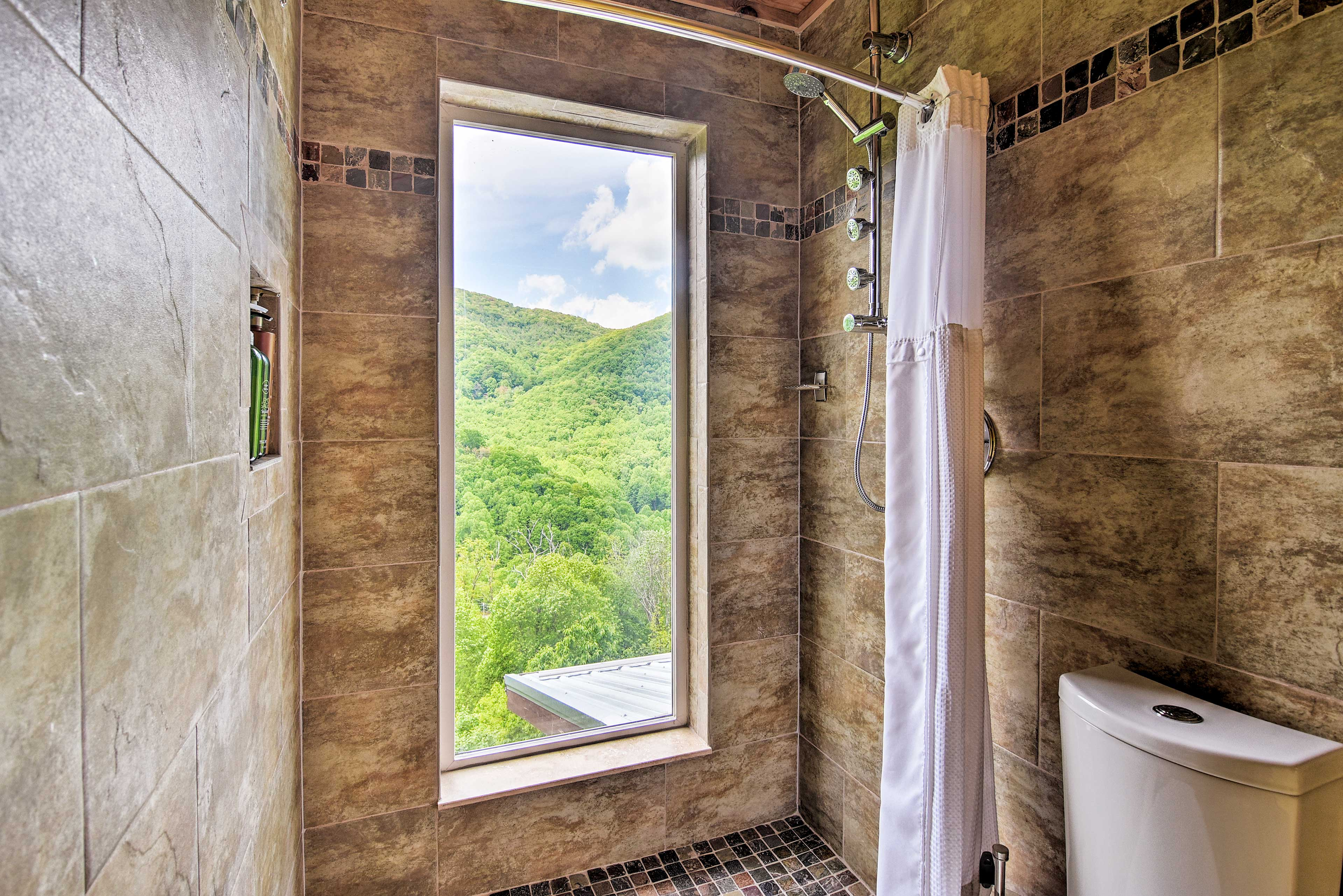 Stunning mountain views abound from nearly every room in the house.
