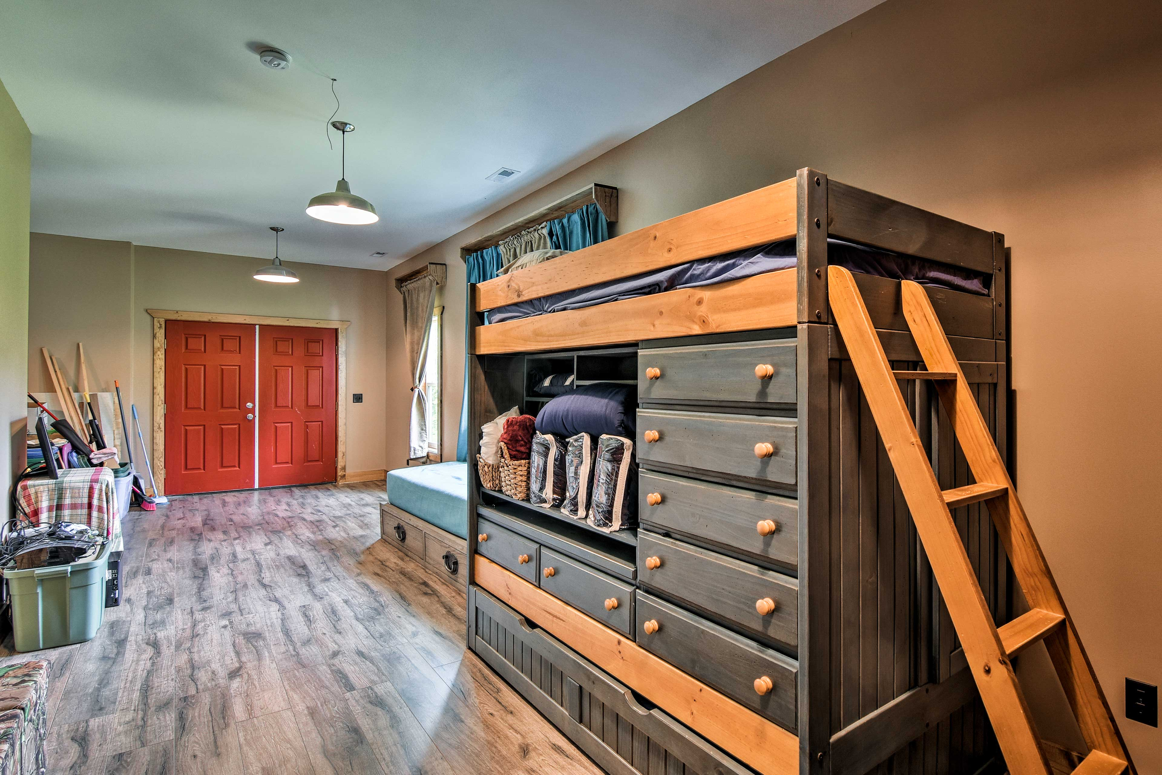 Downstairs you'll find extra space & sleeping accommodations.