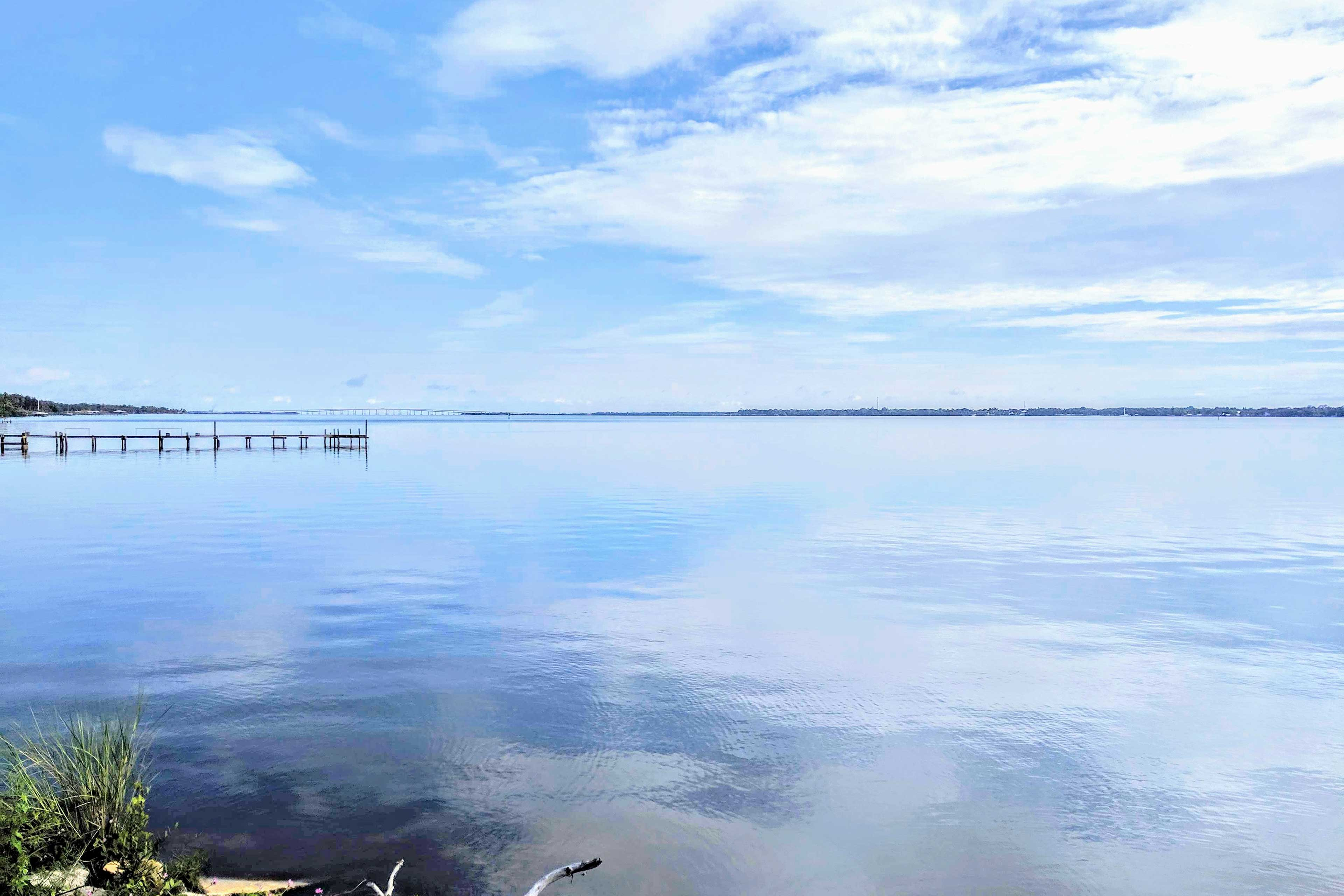 Stunning water views await just minutes away from the 3-bed, 2-bath home for 6.