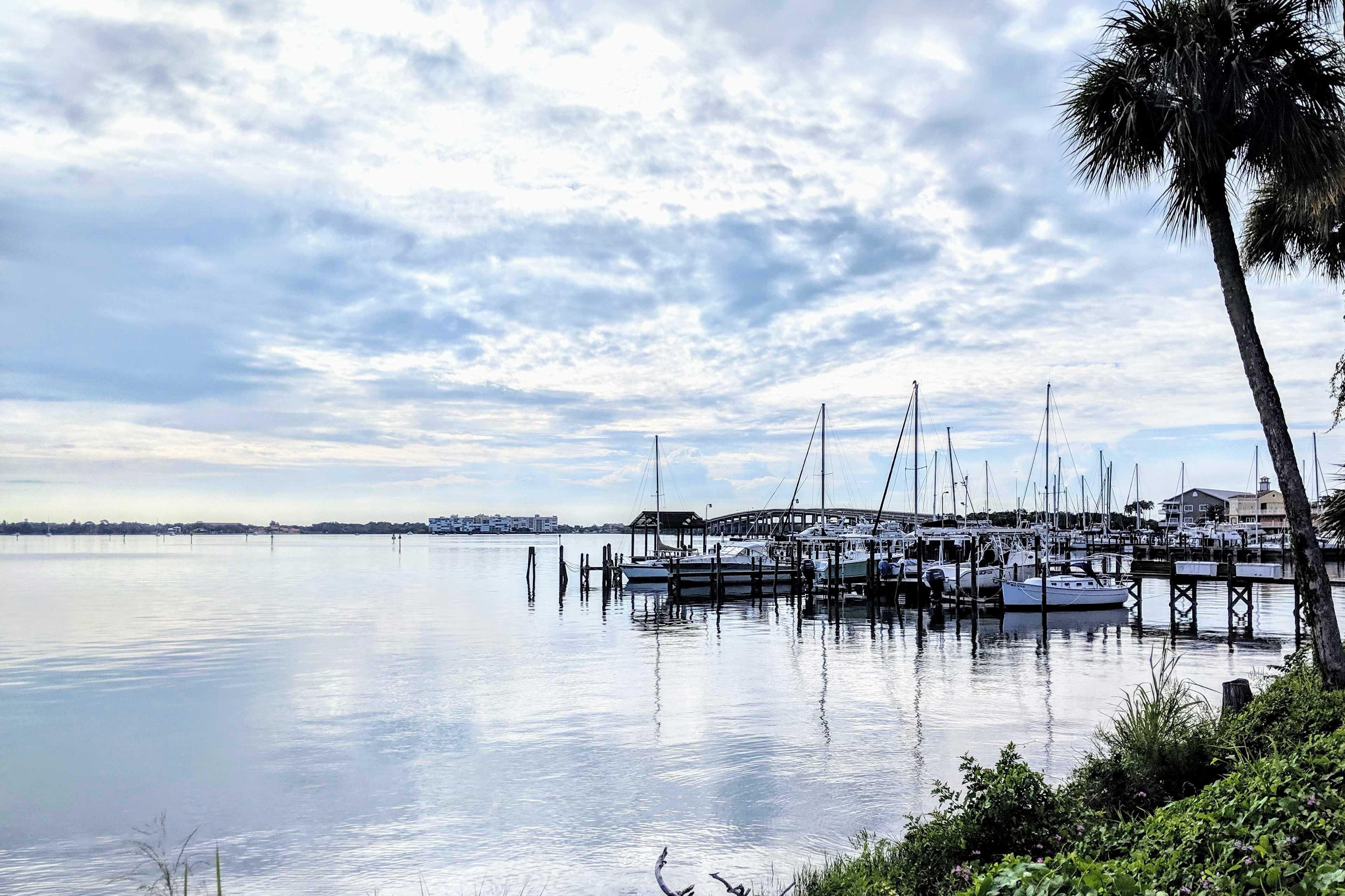 Walk down to the Intracoastal Waterway, or head over the bridge to the beach.