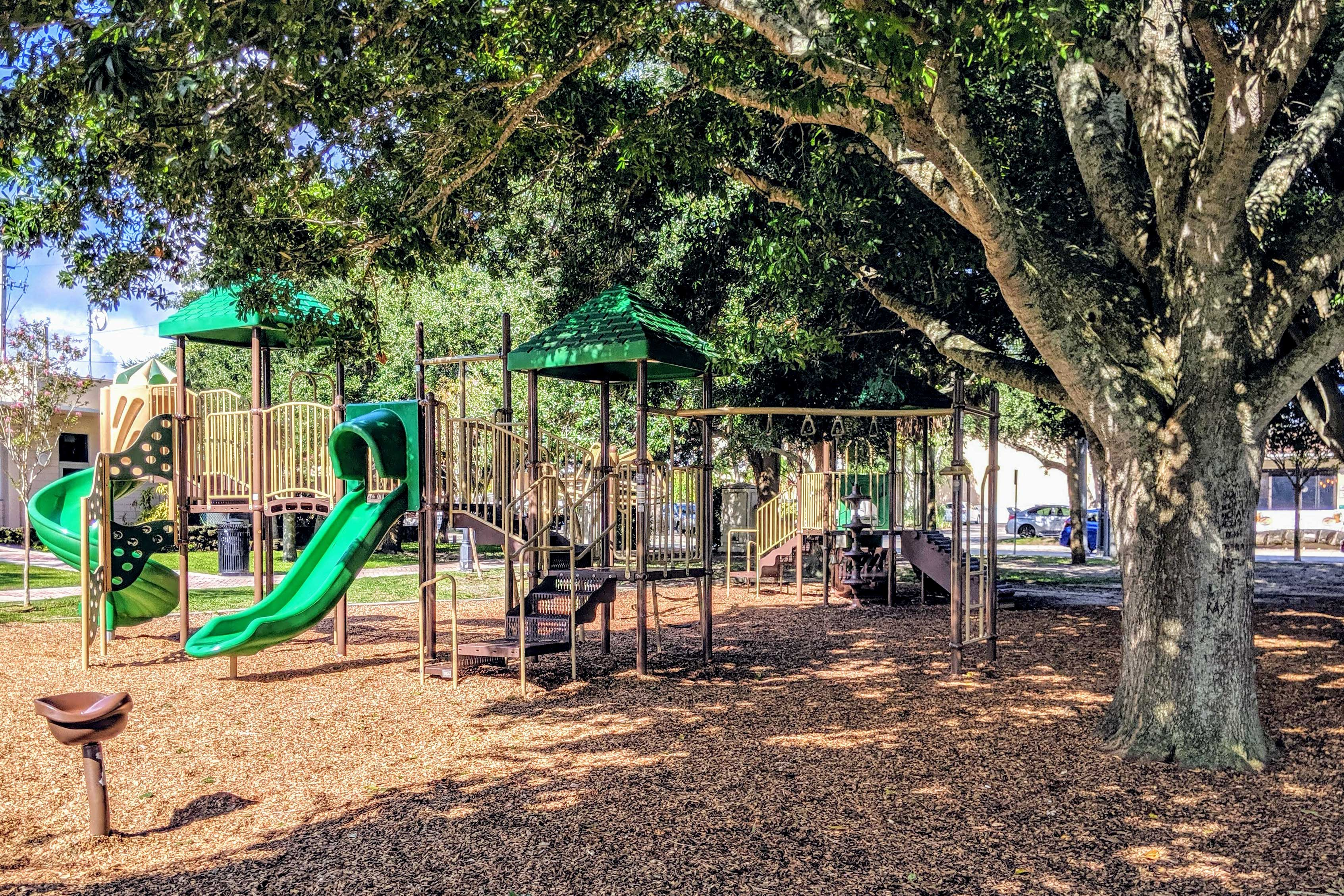 The kids will love the Taylor Park playground in Cocoa Village.