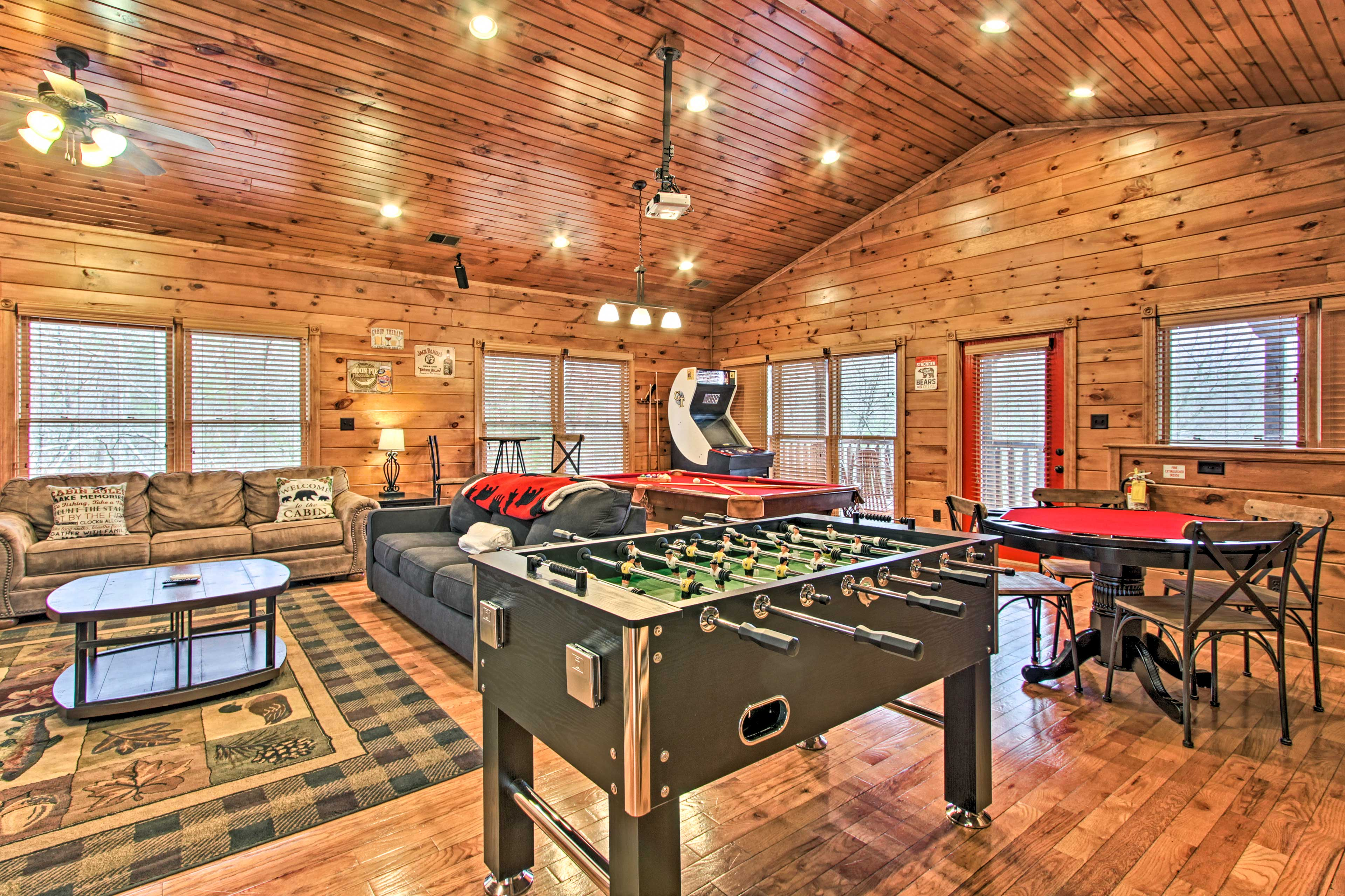 Foosball, cards, billiards, or arcade games - the choice is yours!