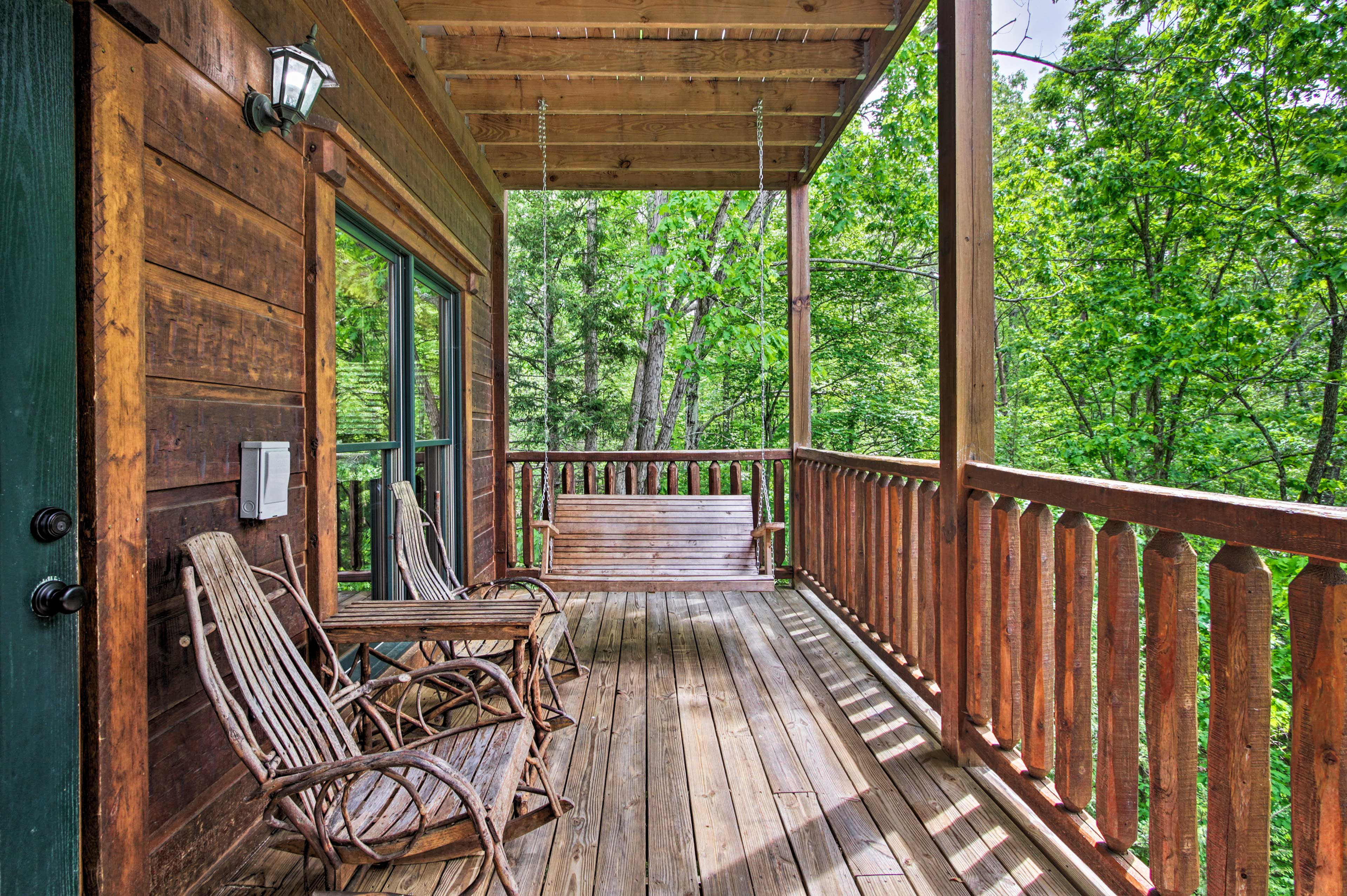 Read your favorite novel on the porch swing.