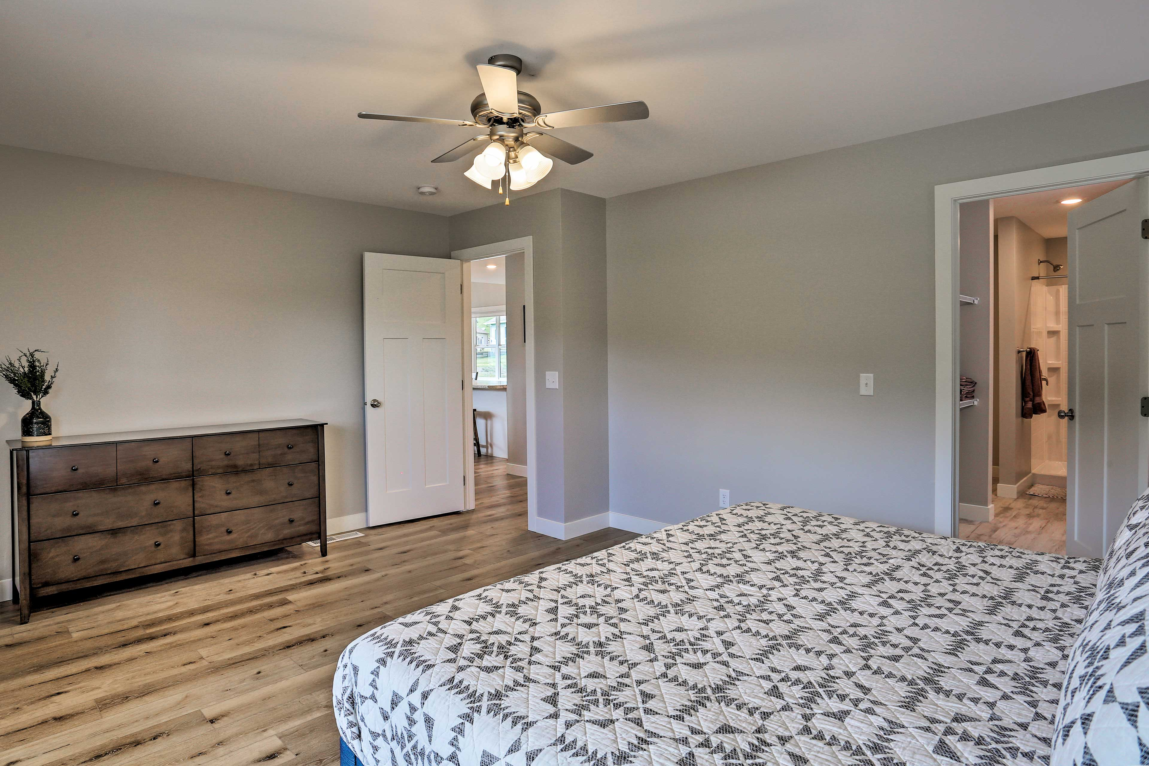 Spread out and relax in the large bedrooms.