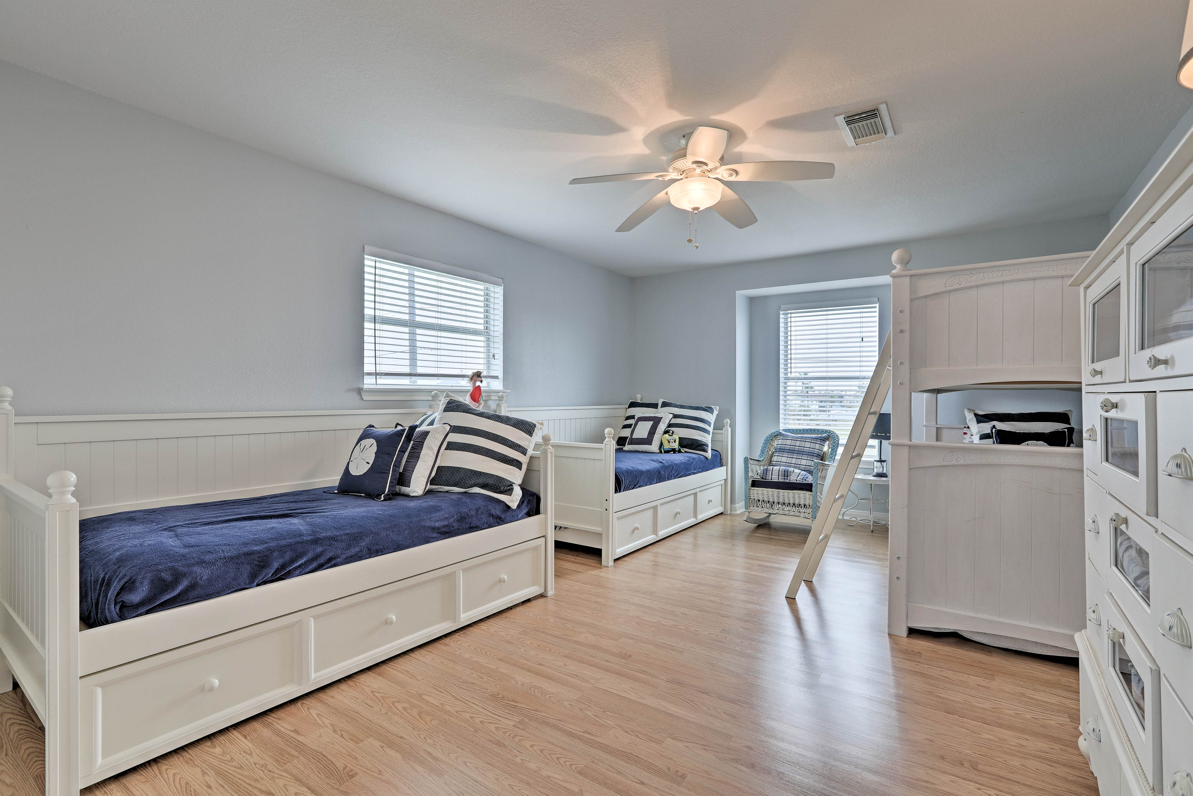 The third bedroom is ideal for a gaggle of children.