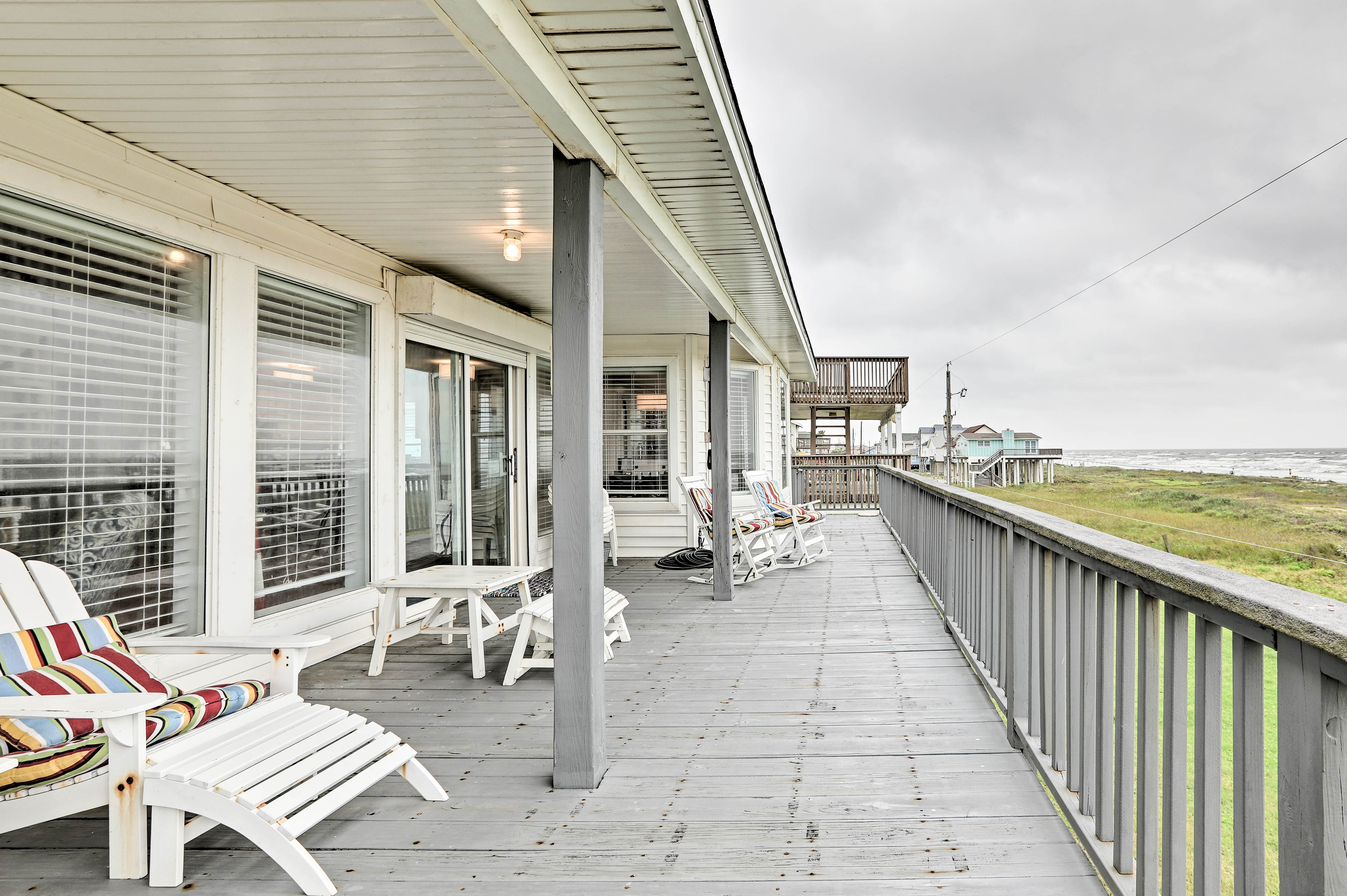 Prepare for a great time at this beachfront Galveston vacation rental!